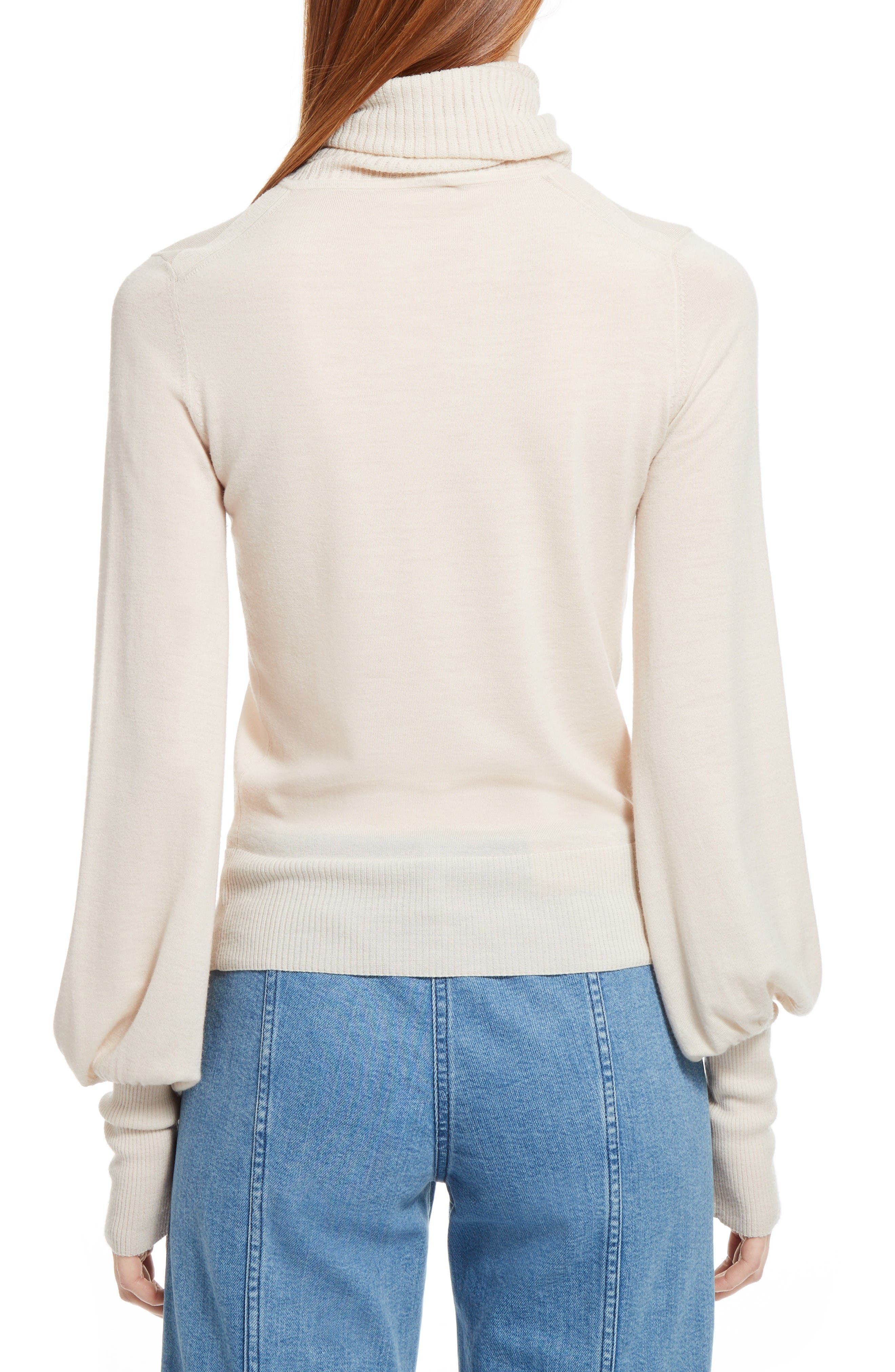 Wool Turtleneck Sweater,                             Alternate thumbnail 2, color,                             Off White