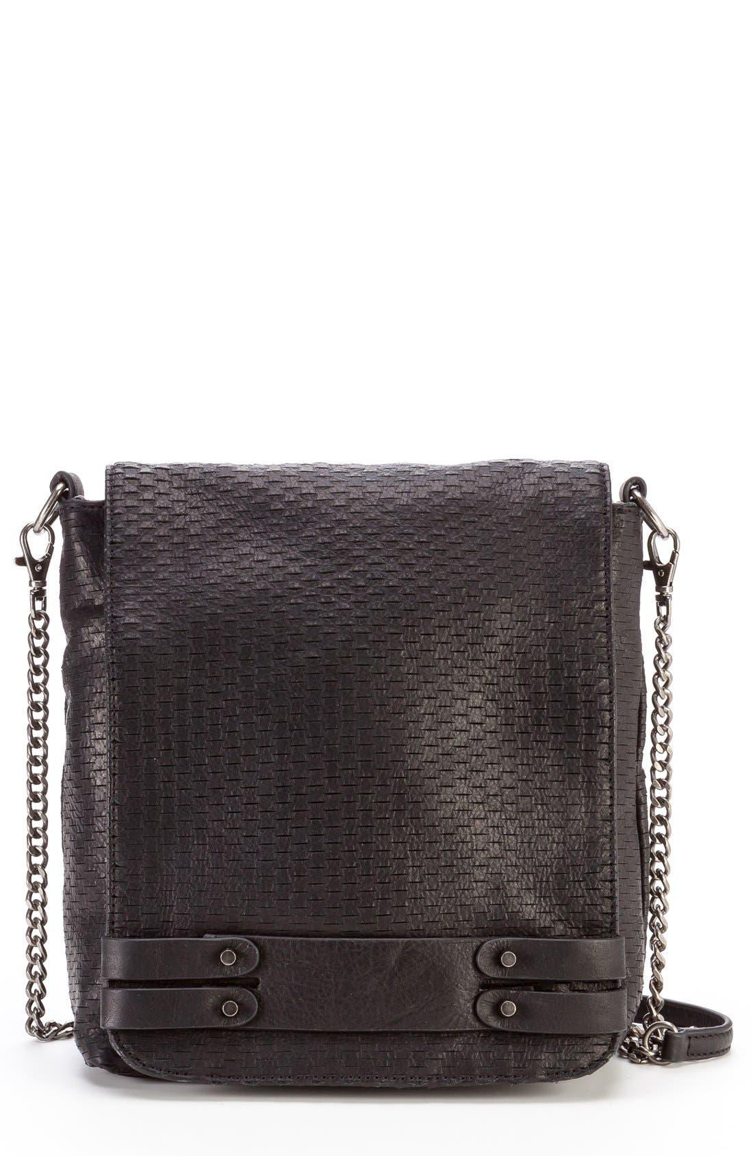 Alternate Image 1 Selected - She + Lo 'Bright Side' Leather Messenger Bag