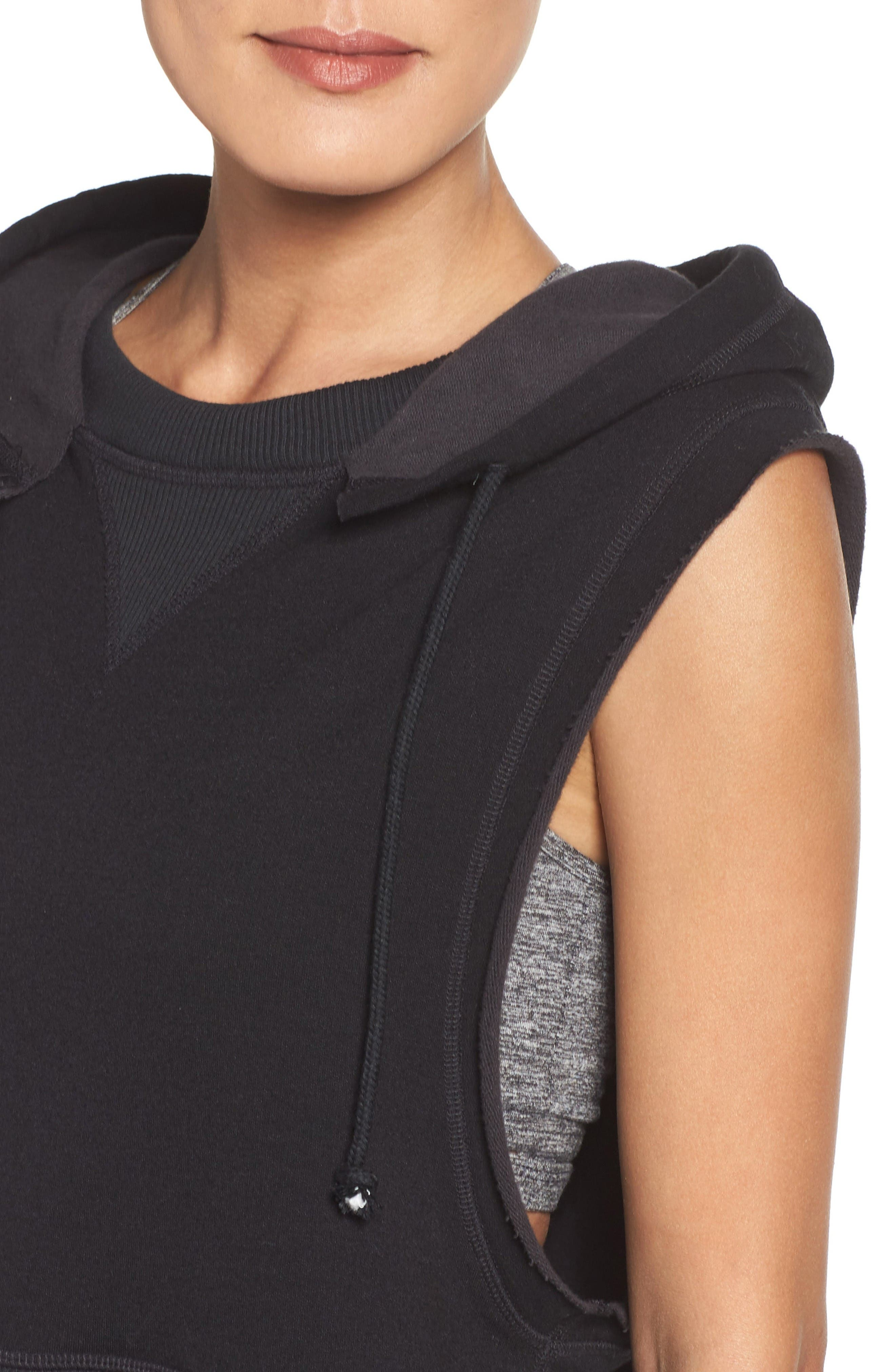 FP Movement Whitewater Hoodie,                             Alternate thumbnail 4, color,                             Black