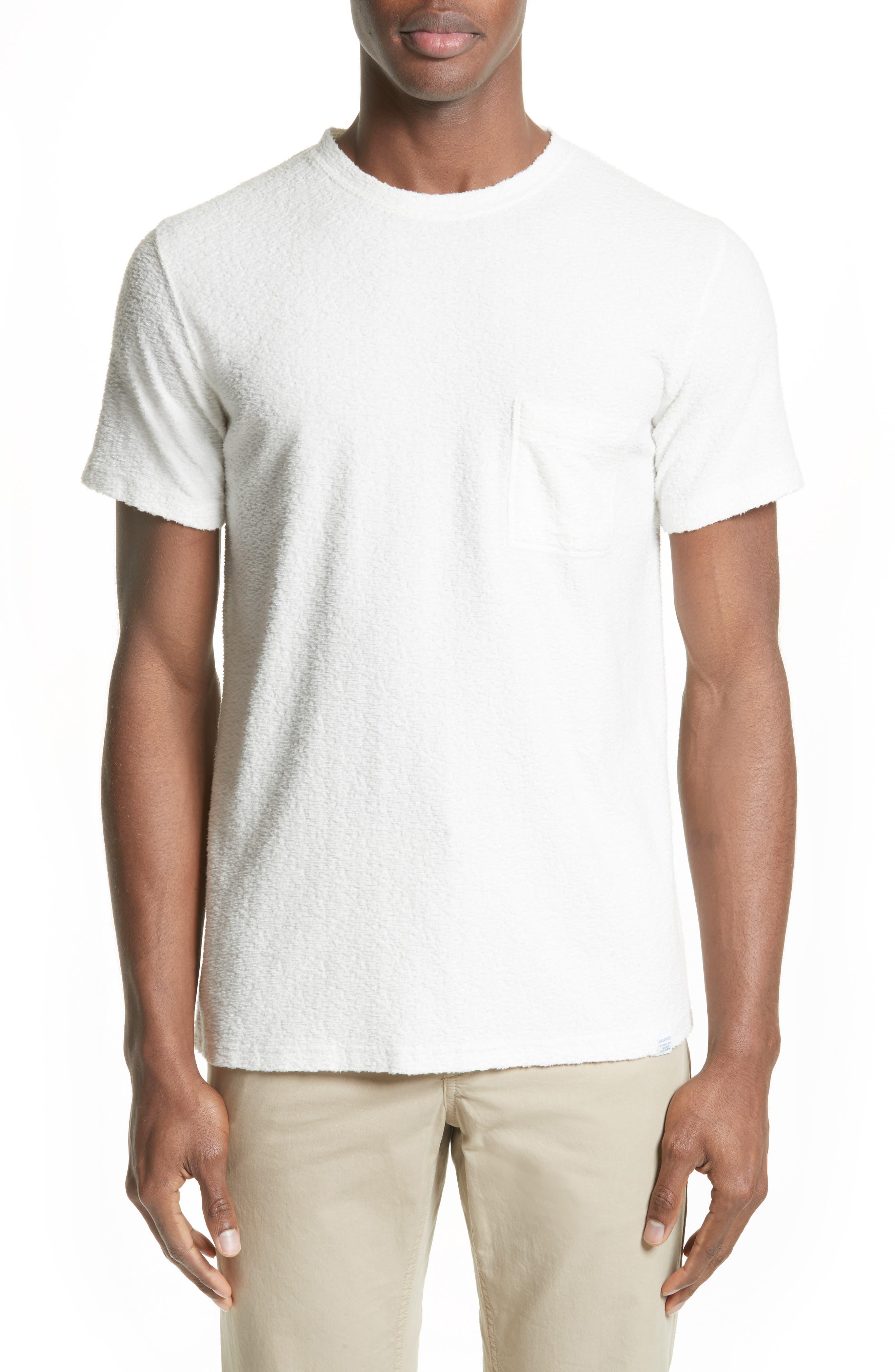 Bouclé Pocket T-Shirt,                         Main,                         color, White