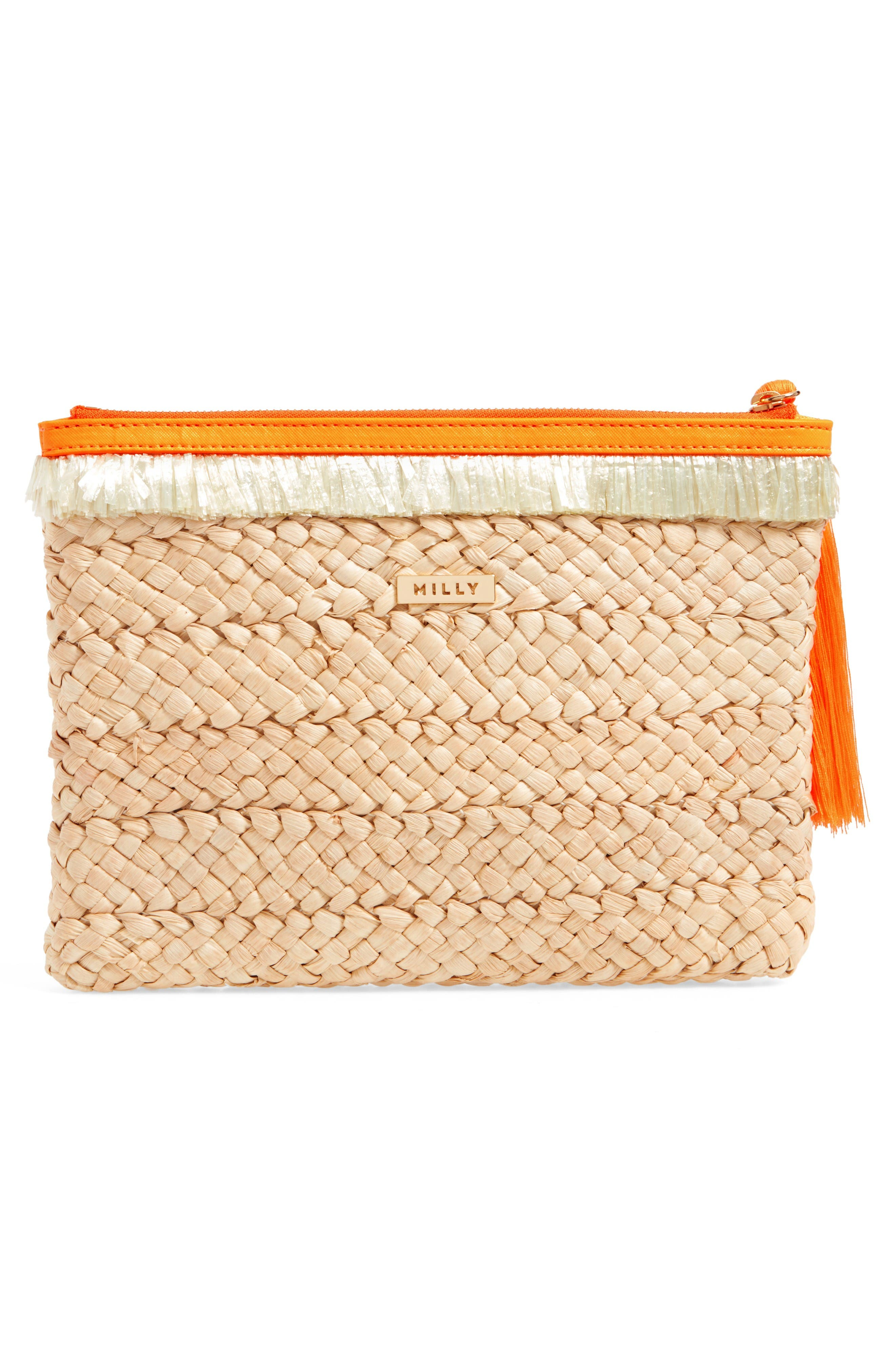 Alternate Image 3  - Milly Pompom Straw Clutch