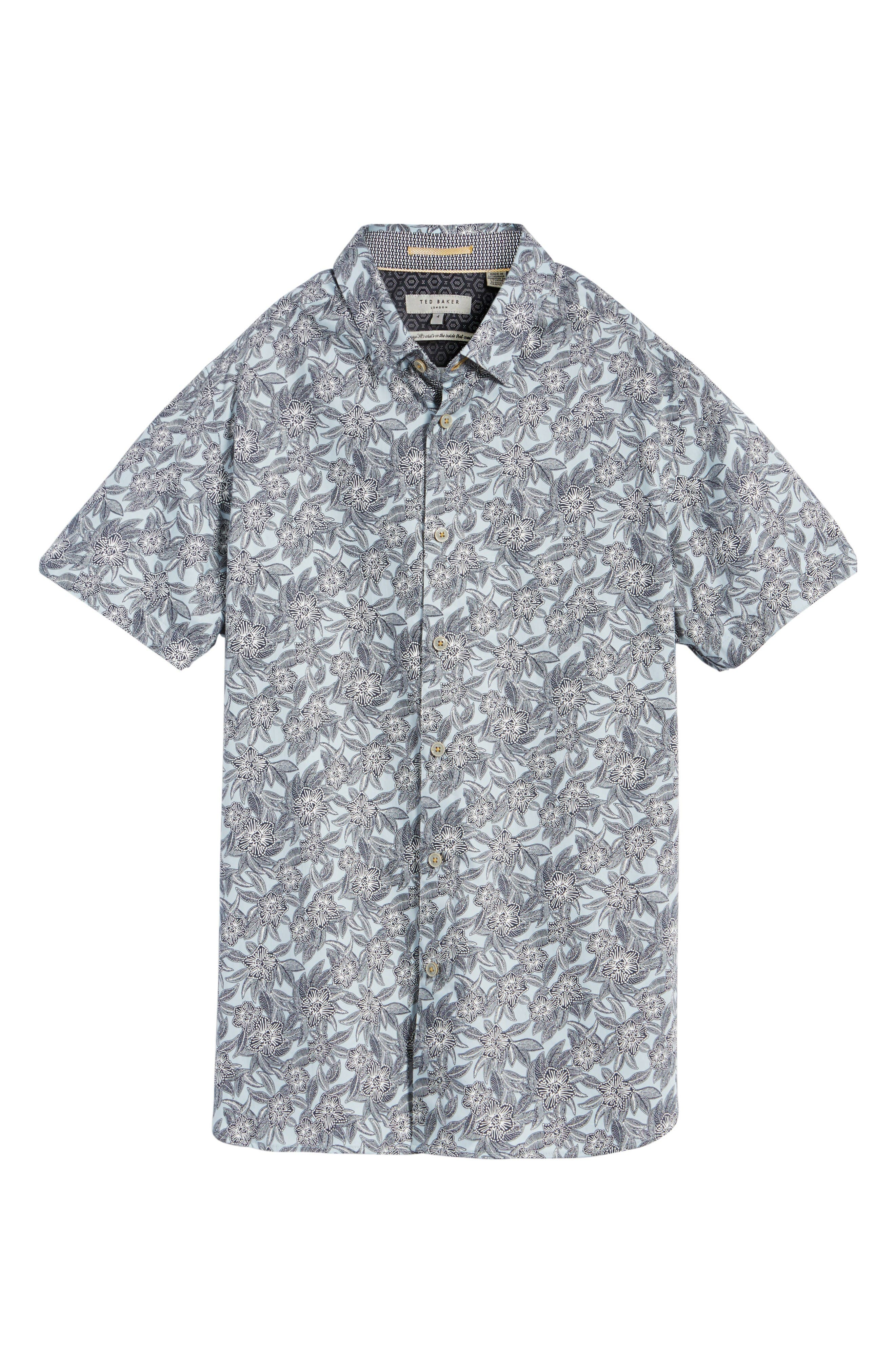 Alternate Image 5  - Ted Baker London Kryko Extra Slim Fit Print Sport Shirt