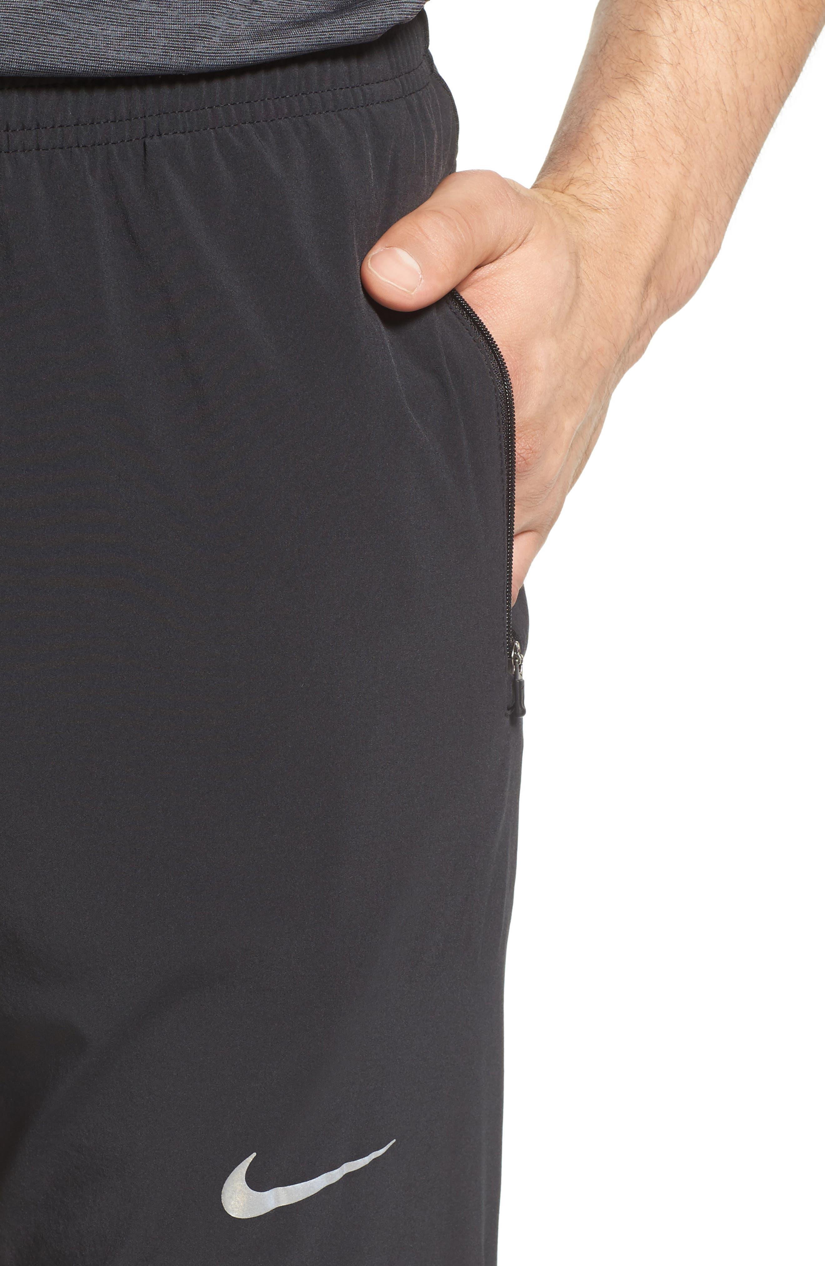 Essential Flex Running Pants,                             Alternate thumbnail 4, color,                             Black