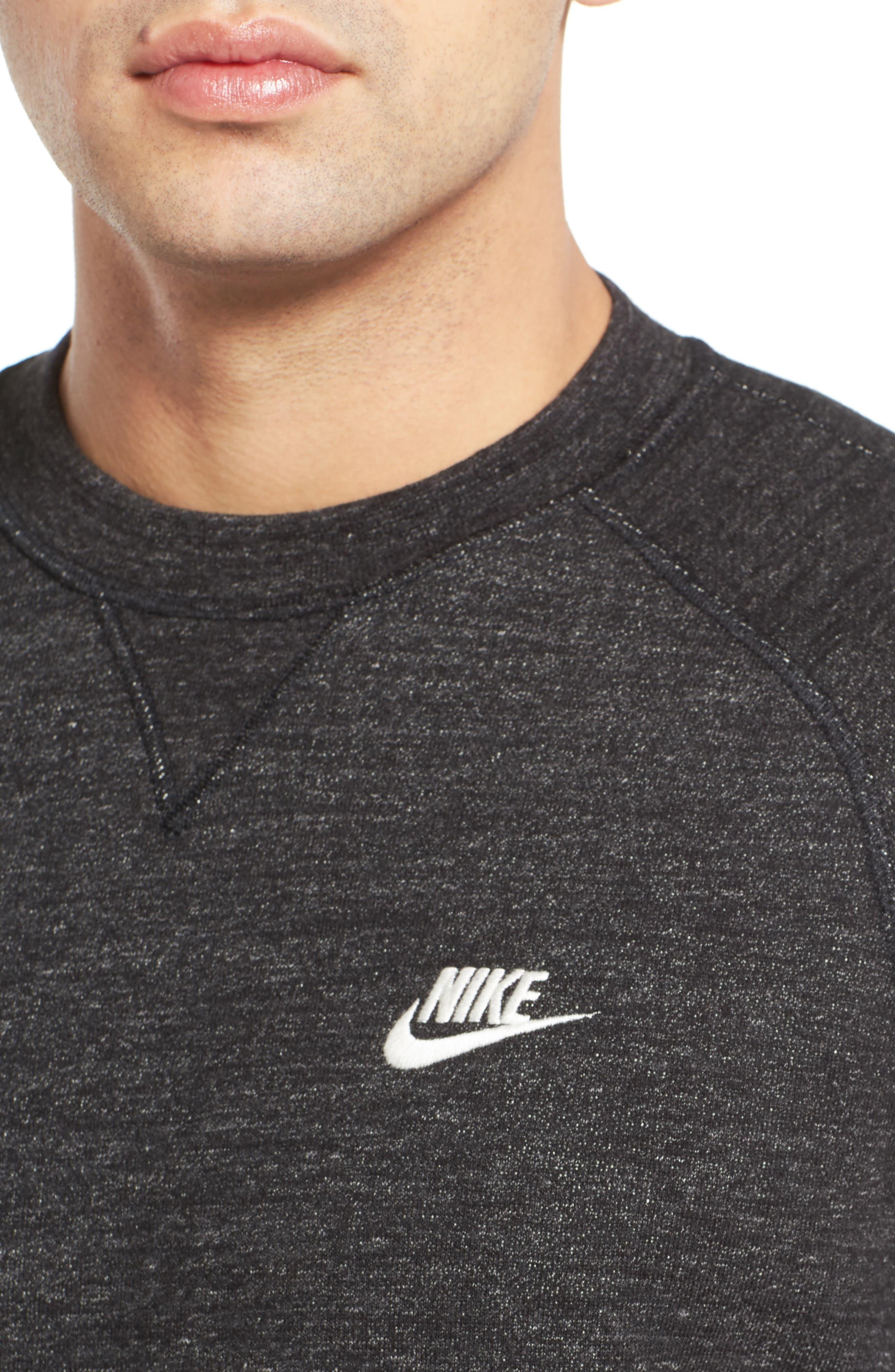 Alternate Image 4  - Nike Legacy Raglan Crewneck Sweatshirt