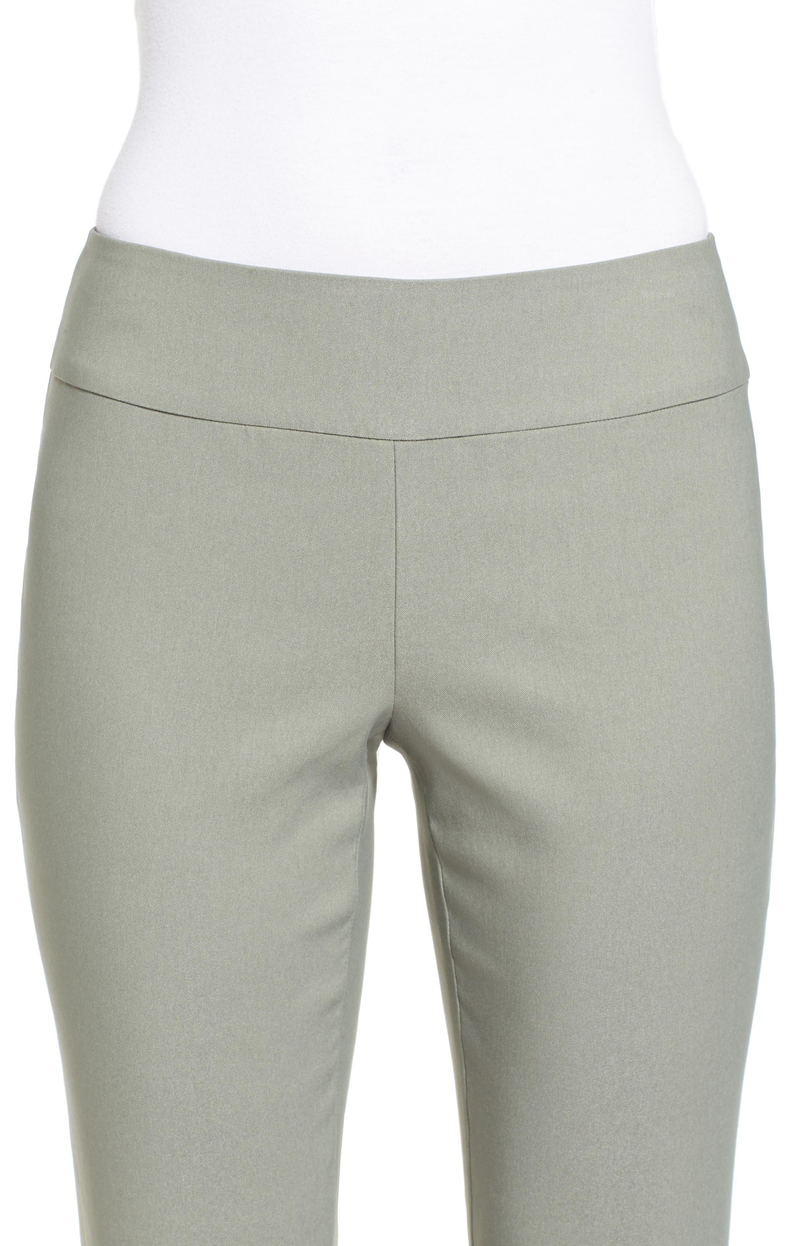 Wonder Stretch Straight Leg Pants,                             Alternate thumbnail 4, color,                             Olive Khaki