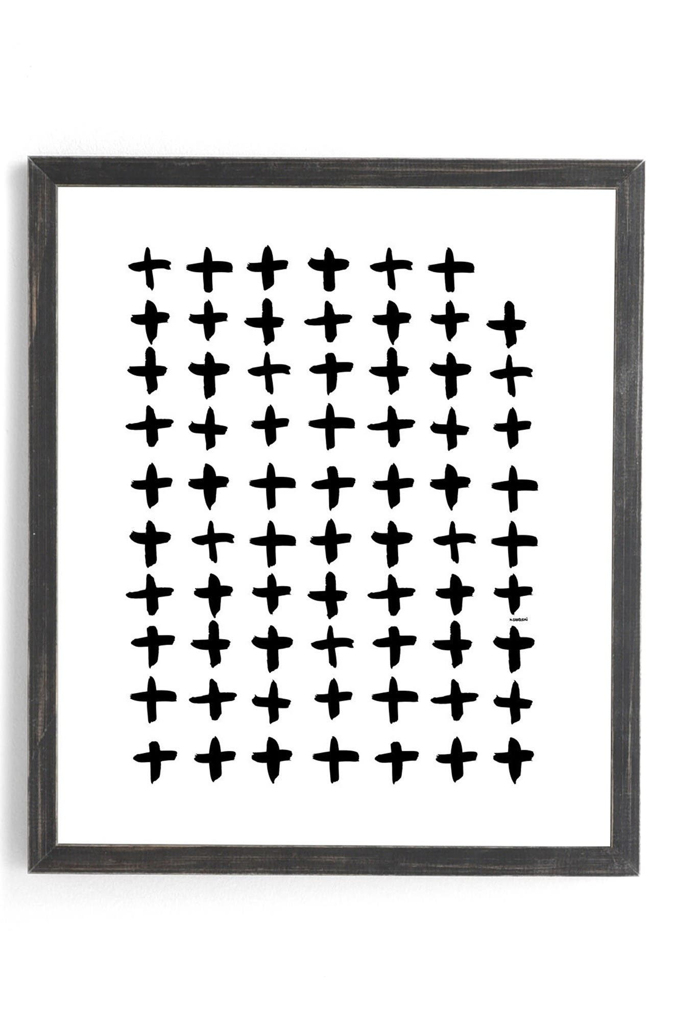 Alternate Image 1 Selected - Deny Designs Plus White Framed Wall Art