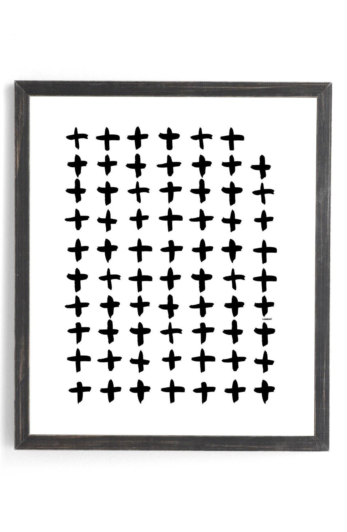 Main Image - Deny Designs Plus White Framed Wall Art