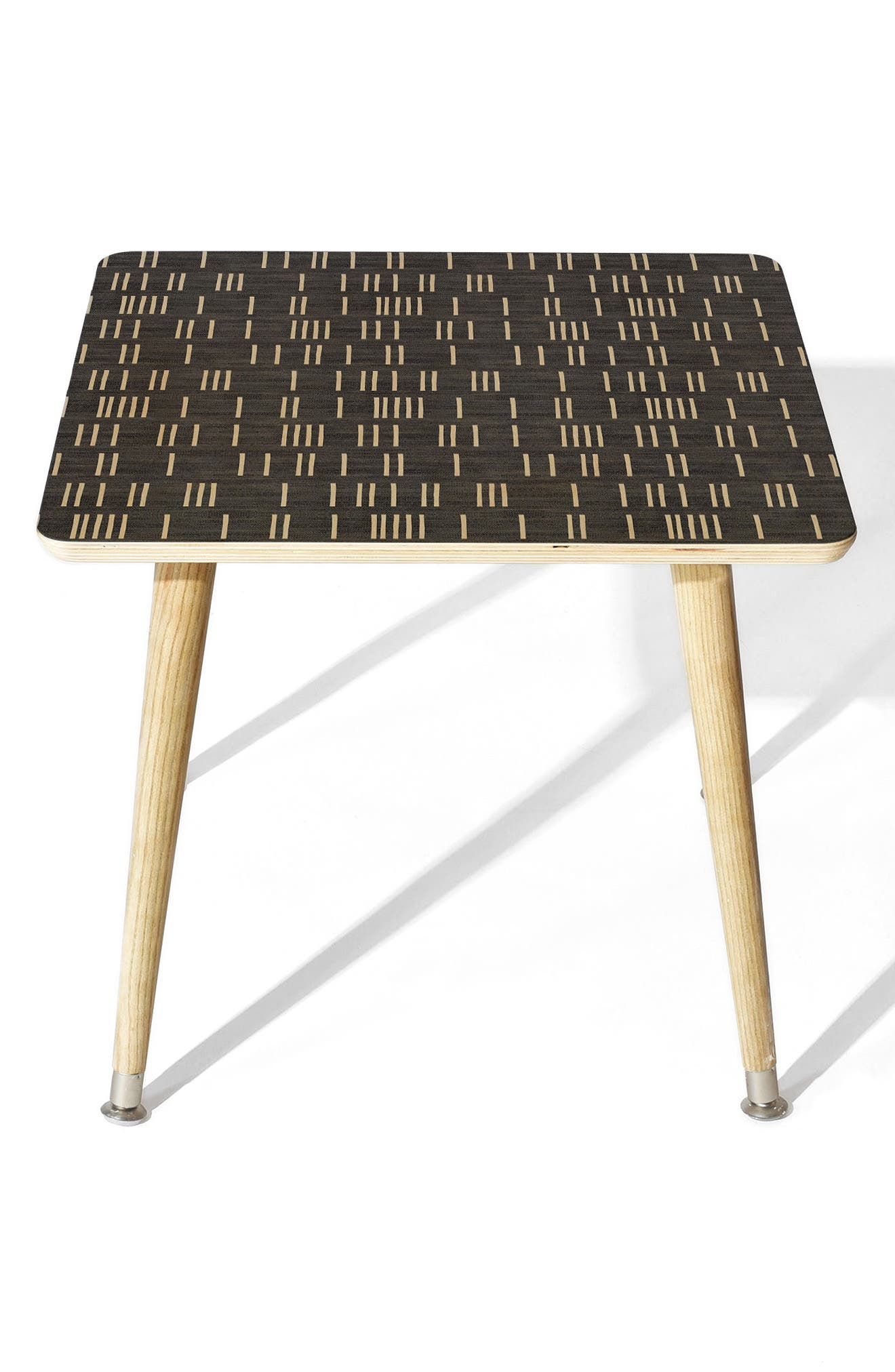 Mudcloth Side Table,                             Main thumbnail 1, color,                             Blue