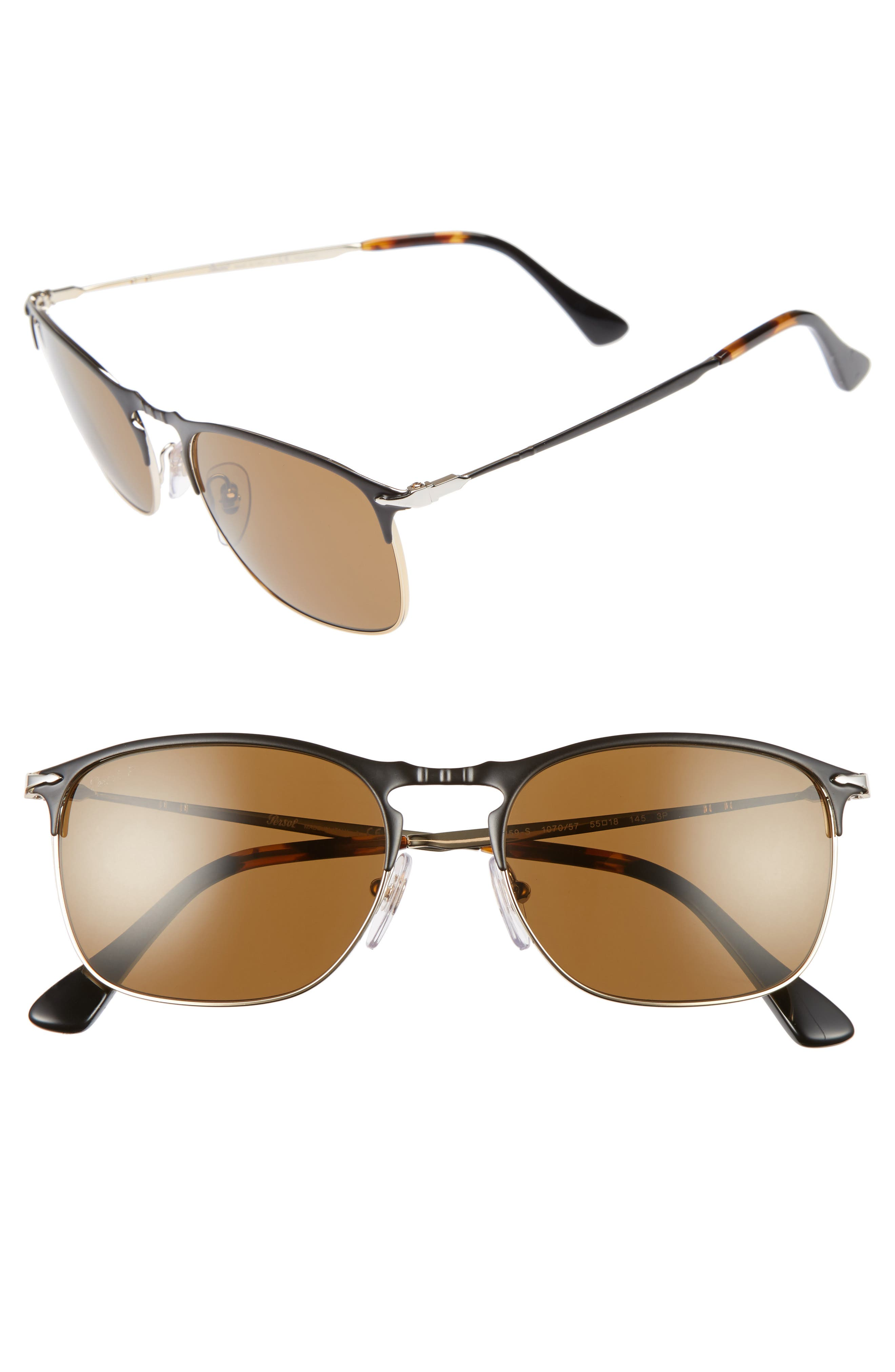 Alternate Image 1 Selected - Persol Evolution 55mm Polarized Aviator Sunglasses