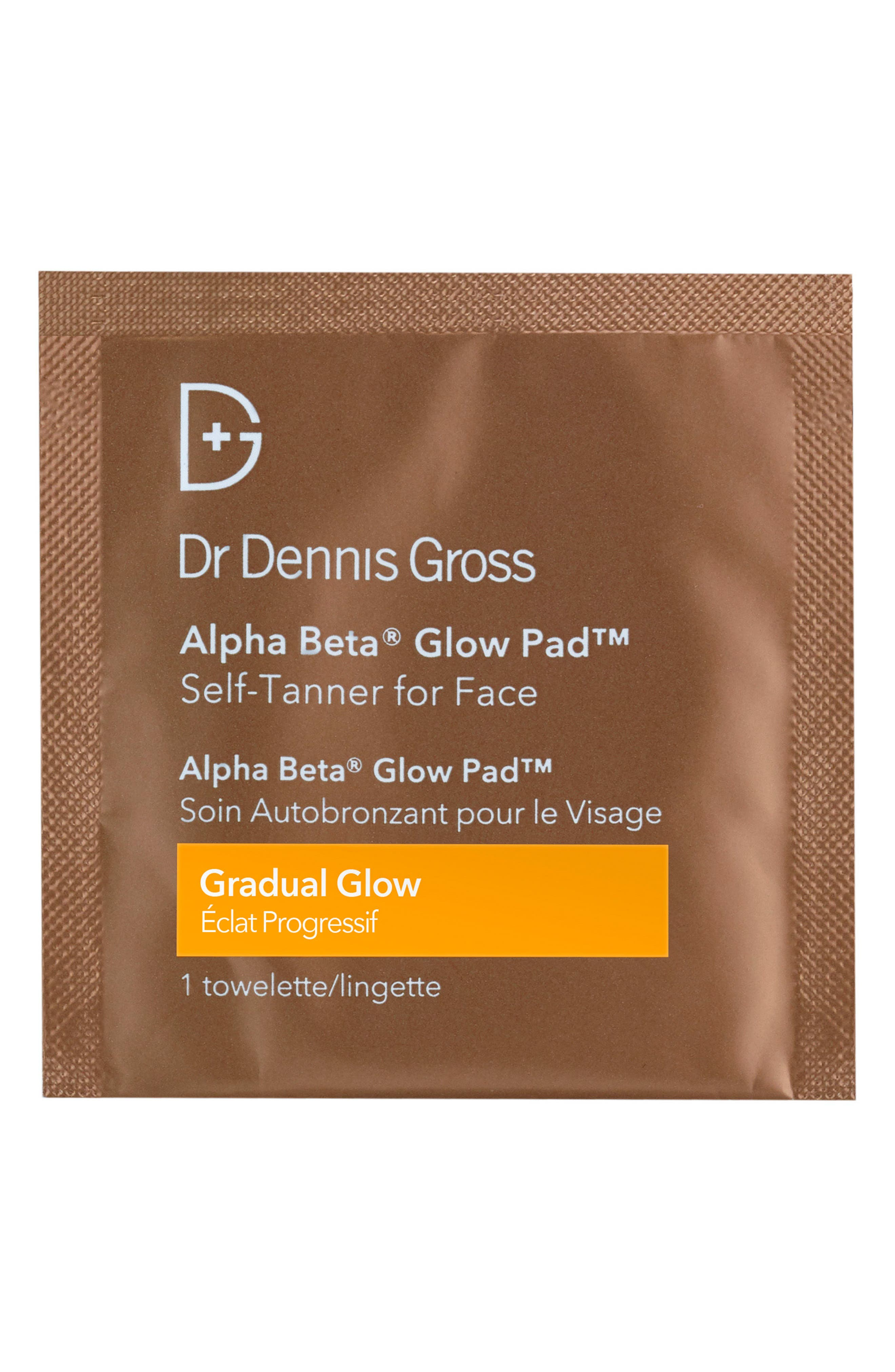 Alternate Image 1 Selected - Dr. Dennis Gross Skincare Alpha Beta® Gradual Glow Pad Self-Tanner for Face