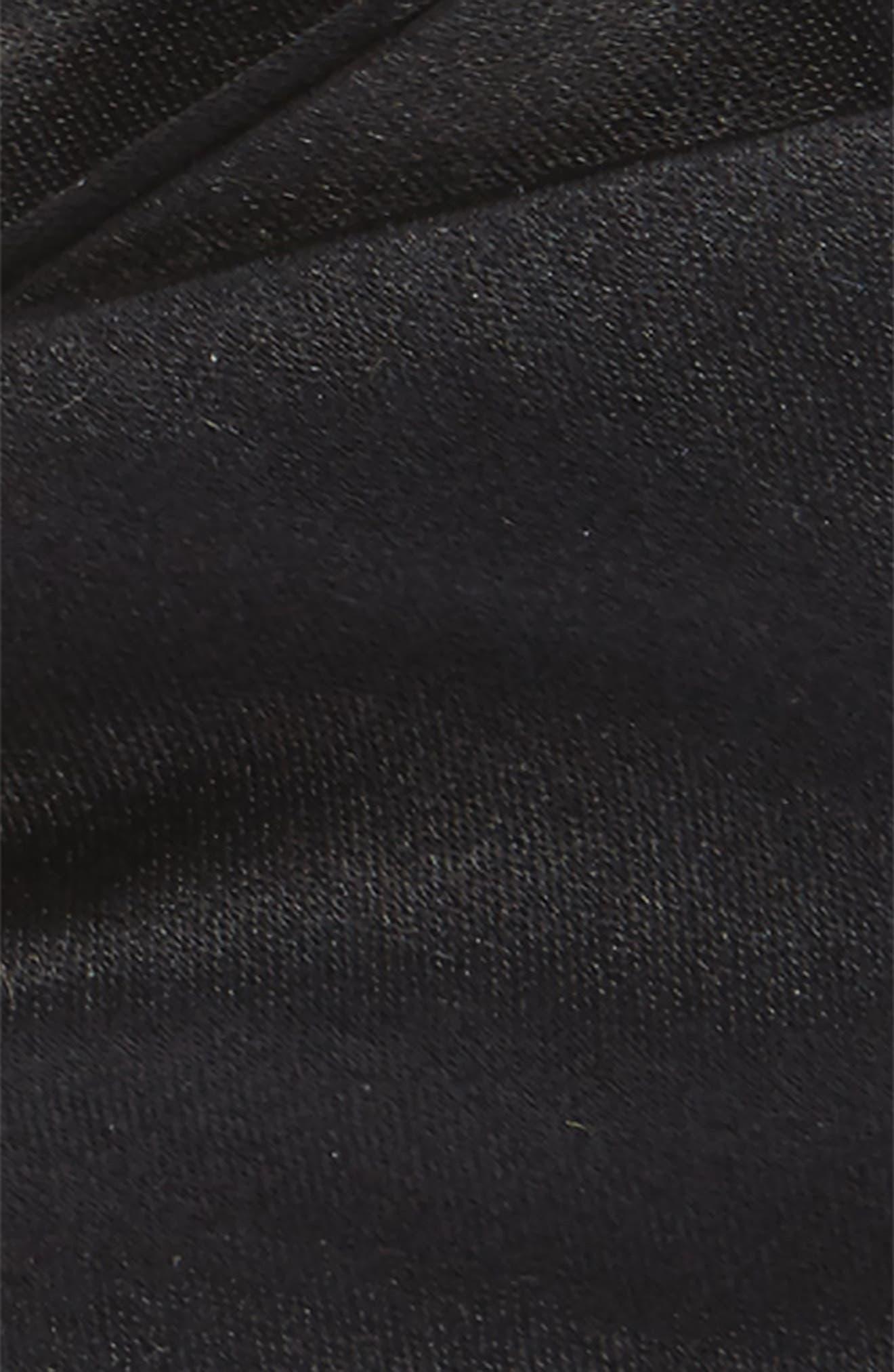 Solid Satin Silk Bow Tie,                             Alternate thumbnail 3, color,                             Black