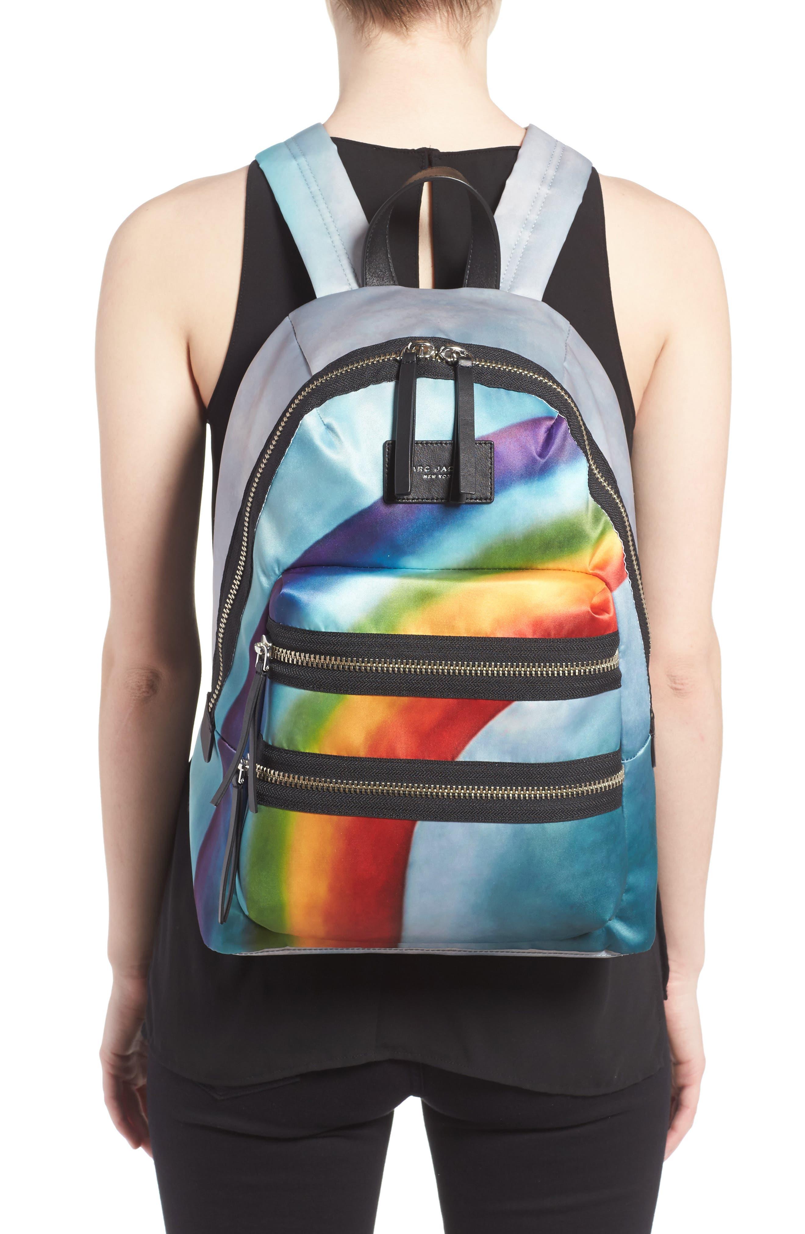Alternate Image 2  - MARC JACOBS Biker Rainbow Print Backpack