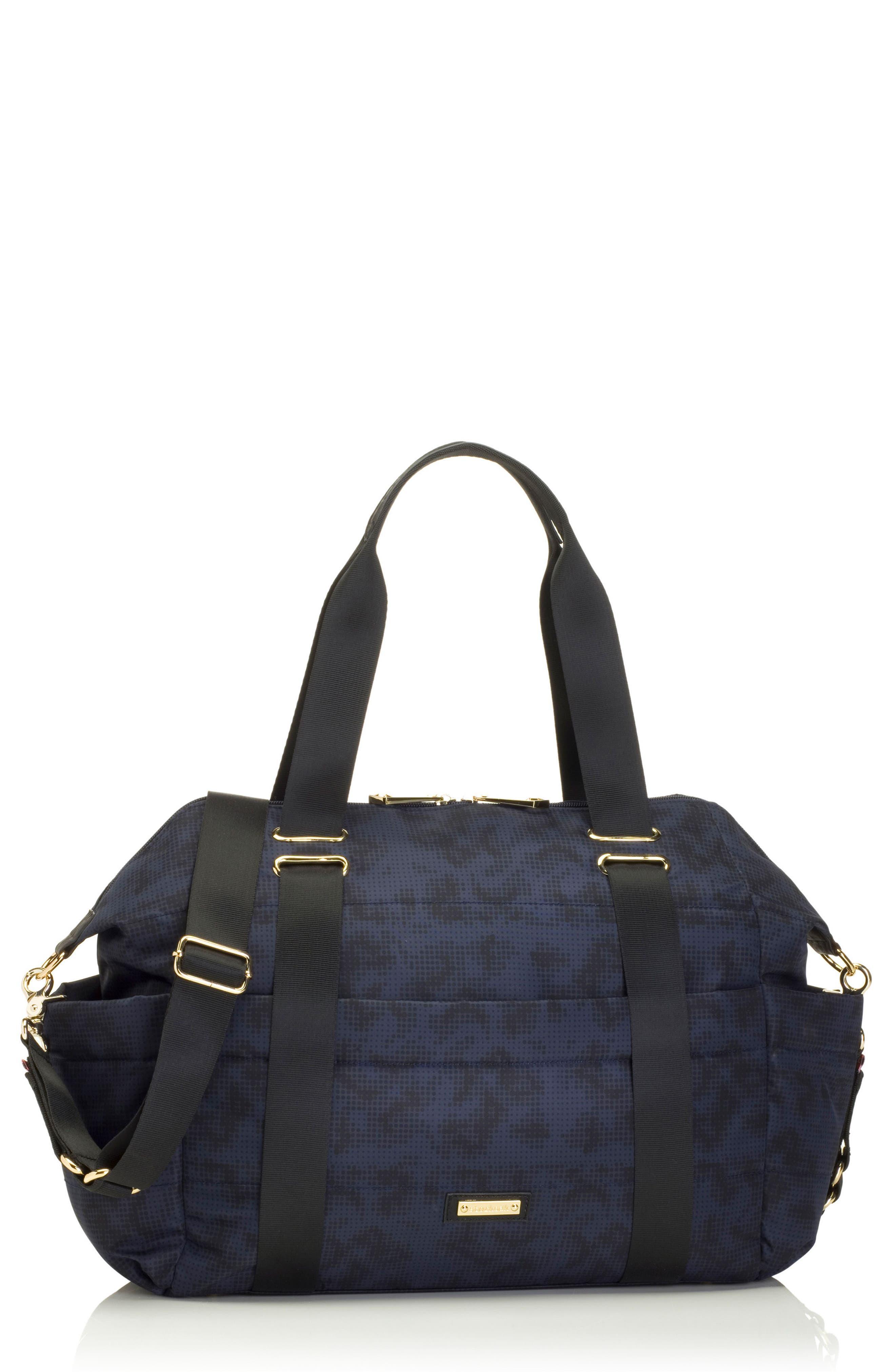 'Sandy' Diaper Bag,                             Main thumbnail 1, color,                             Navy