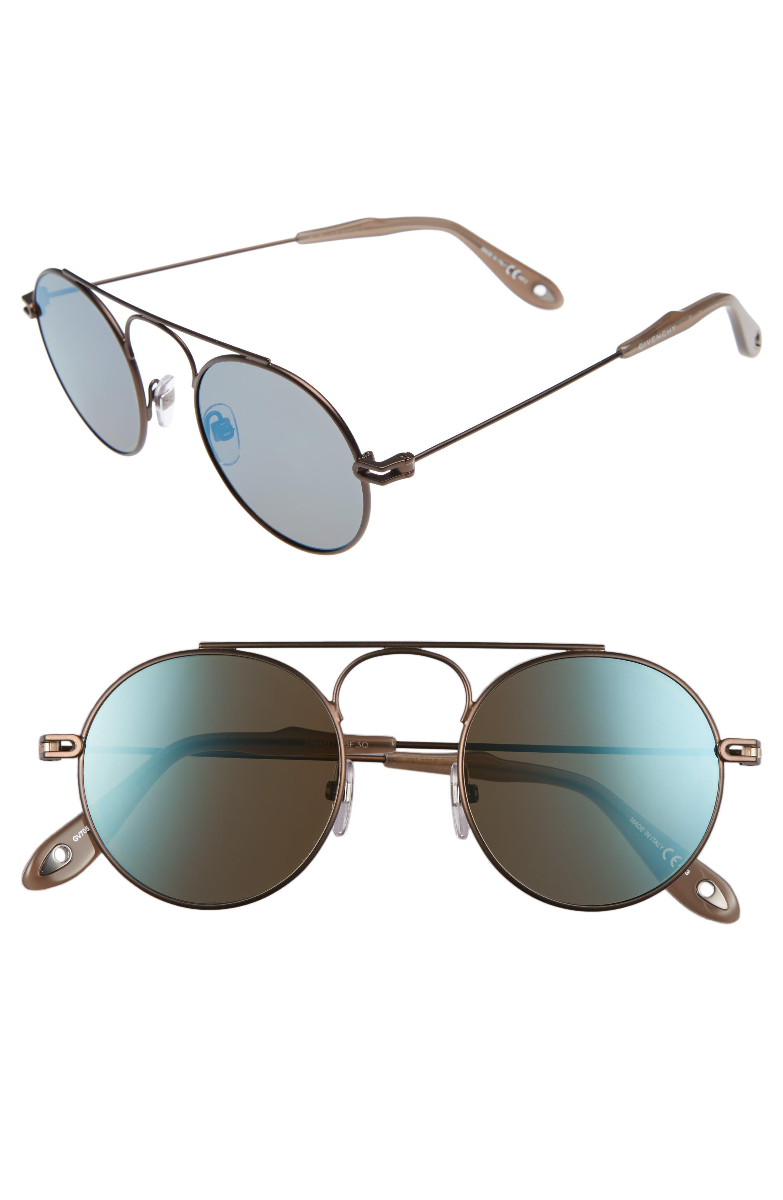 48mm Retro Sunglasses,                         Main,                         color, Brown