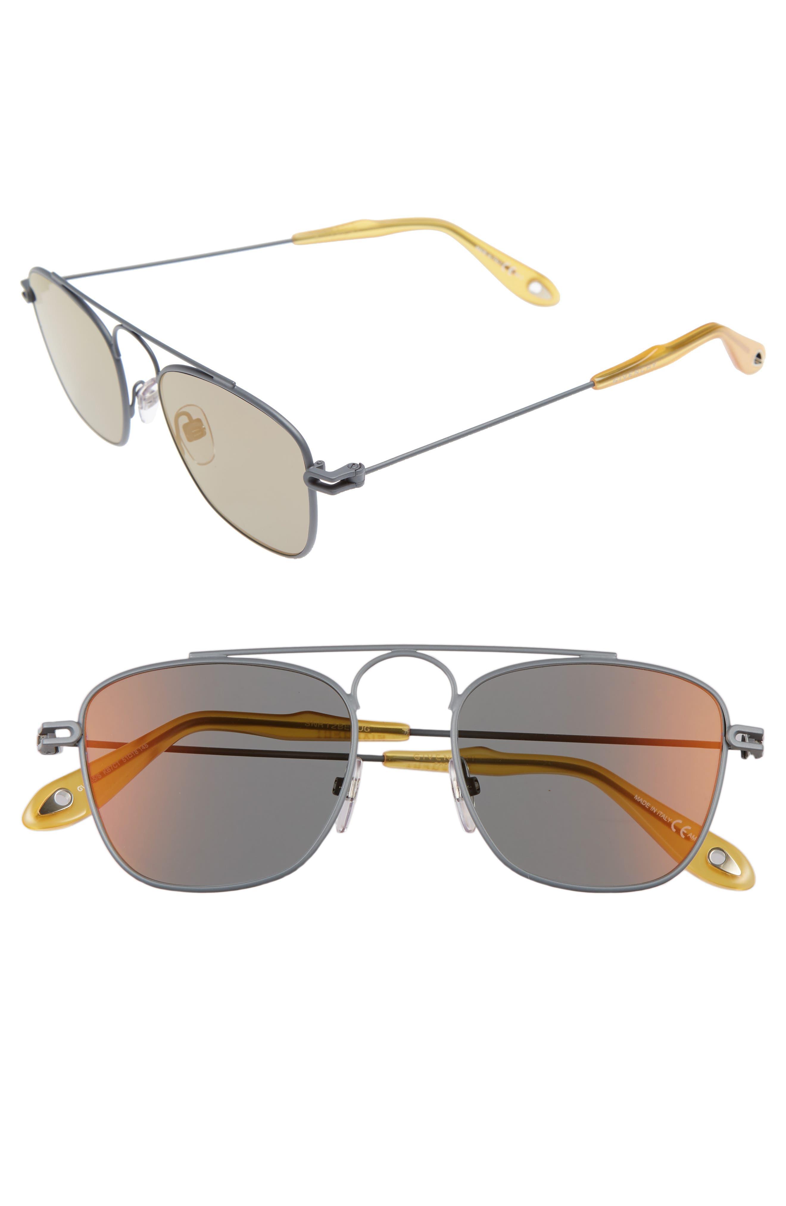 Givenchy 51mm Navigator Sunglasses
