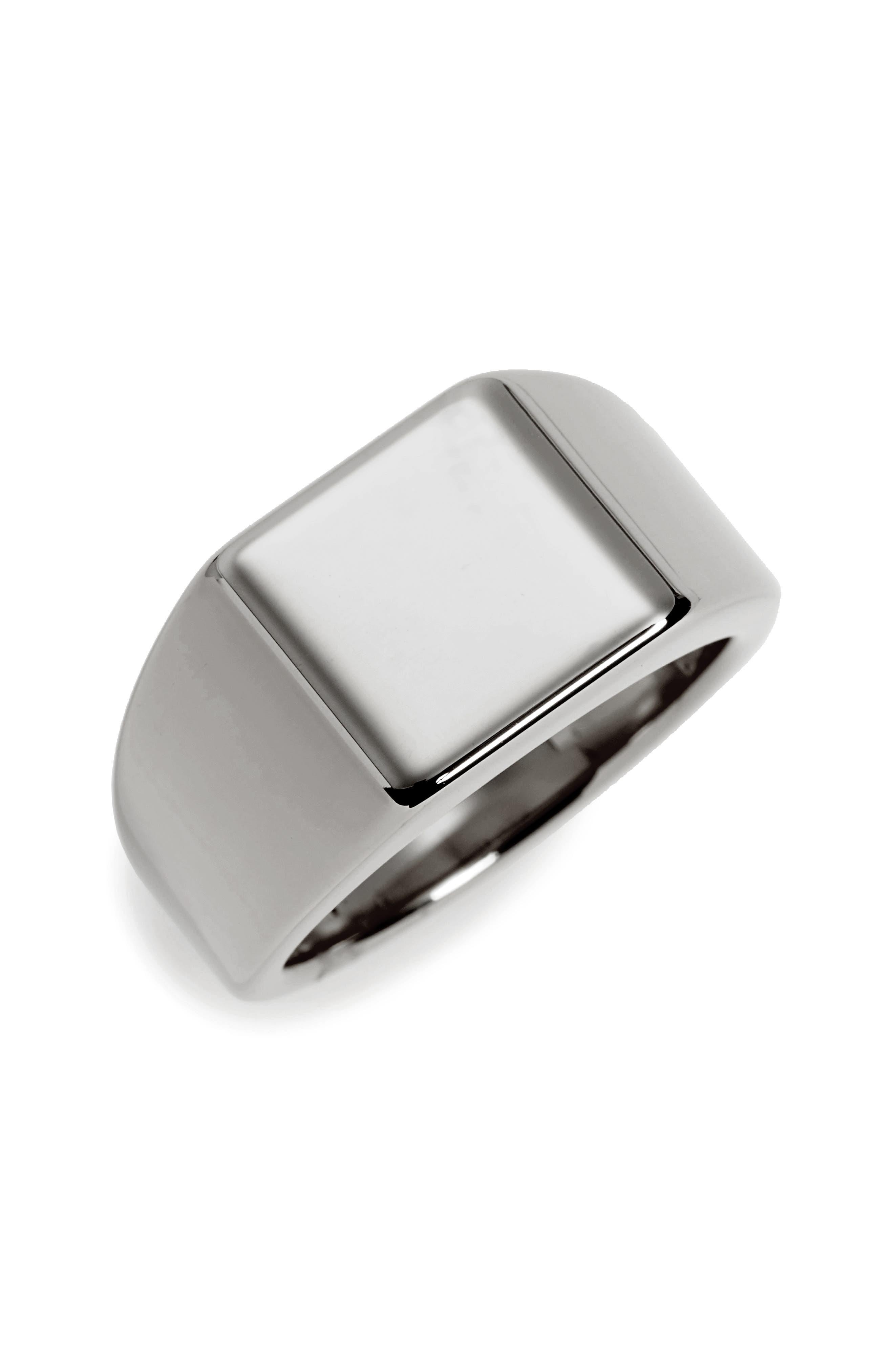 Lourd Square Ring,                         Main,                         color, Tungsten