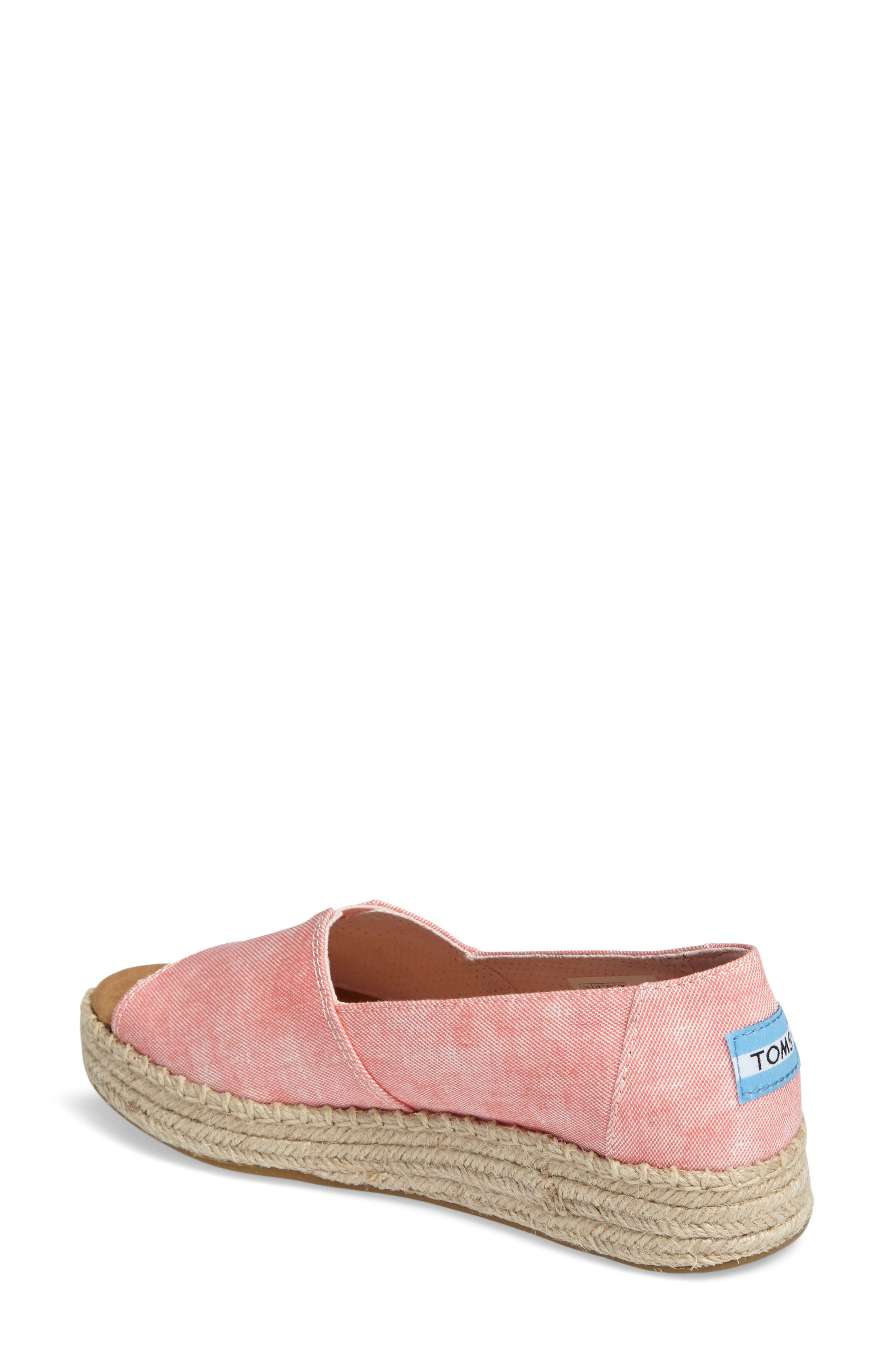 Alternate Image 2  - TOMS Open Toe Platform Espadrille (Women)