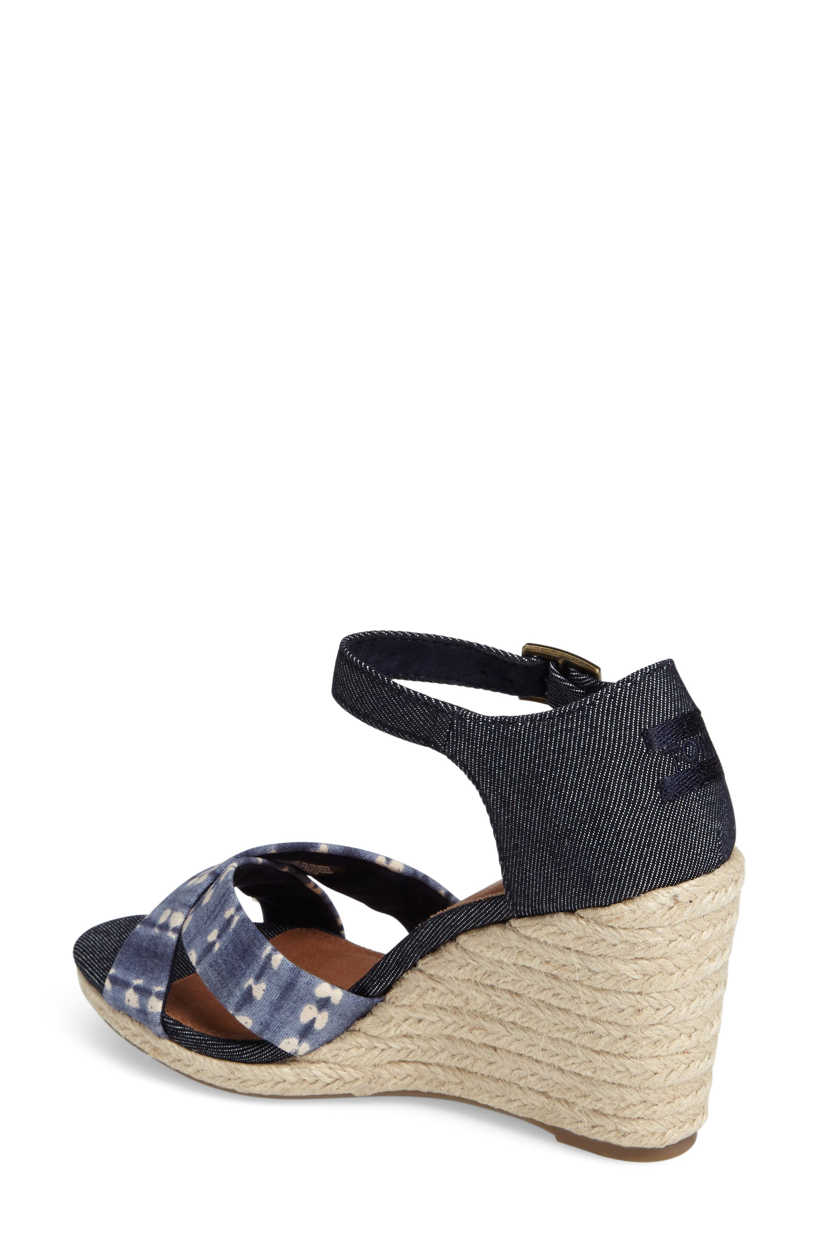Alternate Image 2  - TOMS Sienna Wedge Sandal (Women)