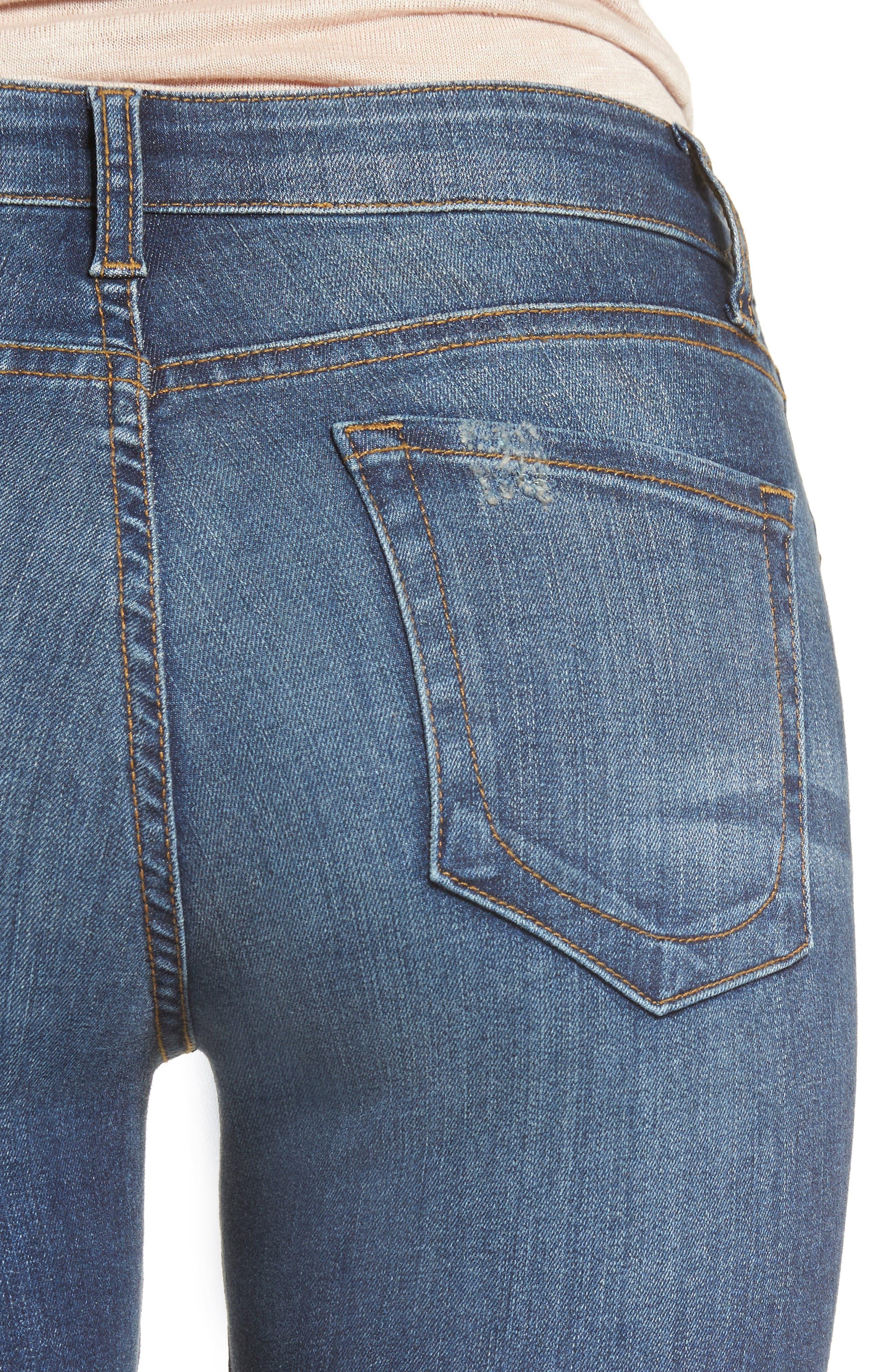 Alternate Image 5  - KUT from the Kloth Diana Ripped Stretch Skinny Jeans (Valorous) (Regular & Petite)