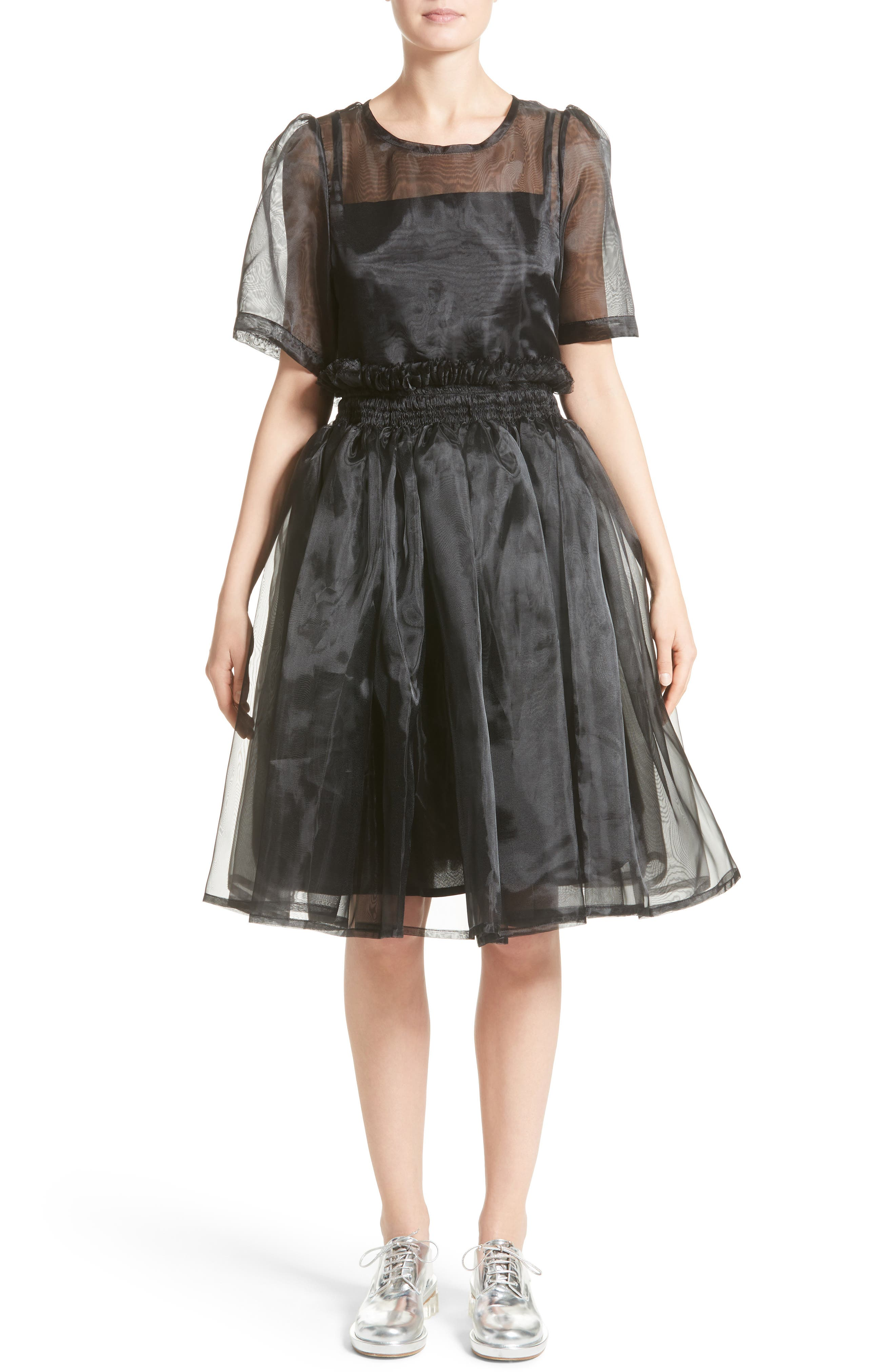 Addison Tulle Dress,                         Main,                         color, Black