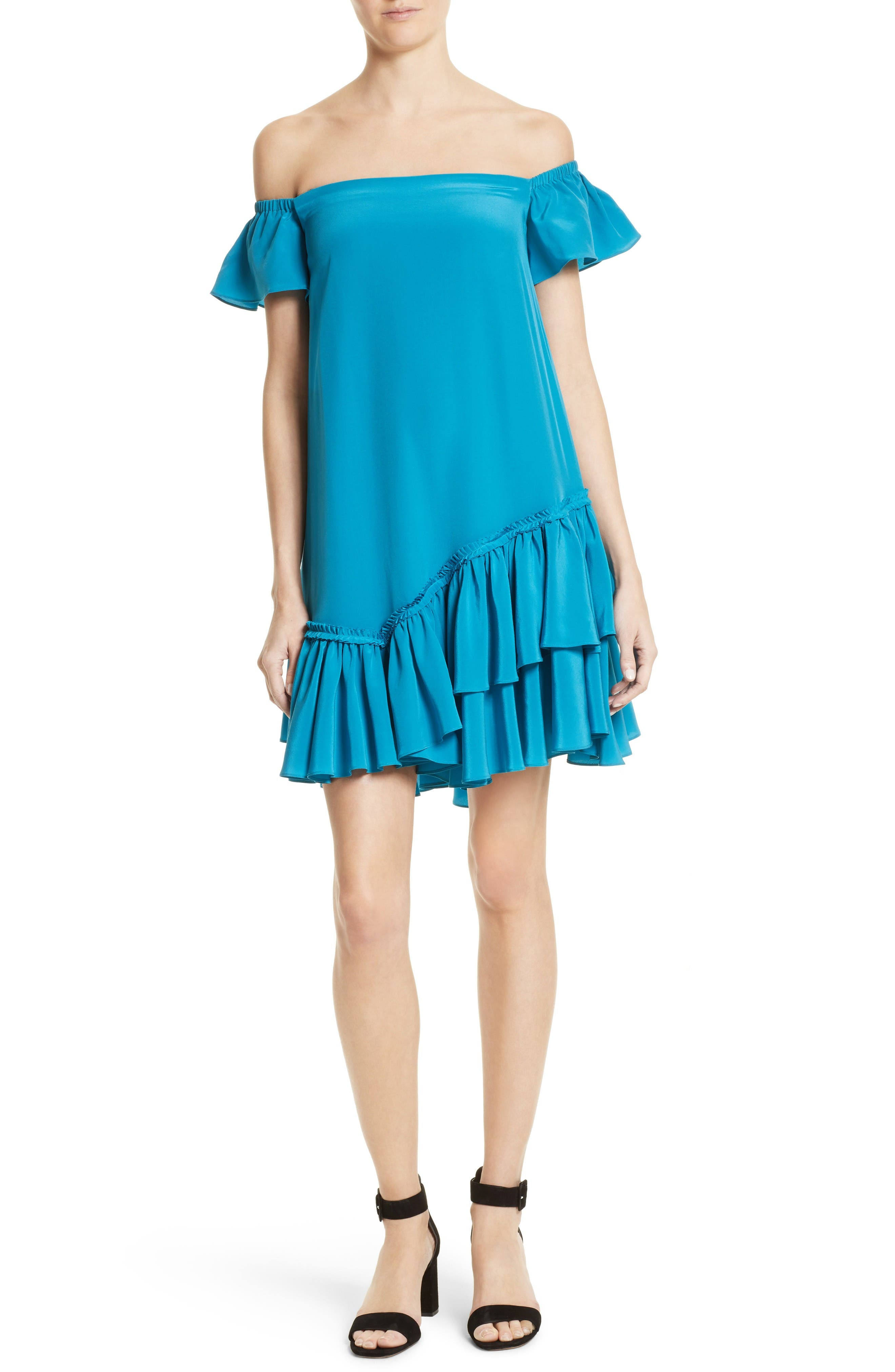 CINQ À SEPT Minella Ruffle Off the Shoulder Dress