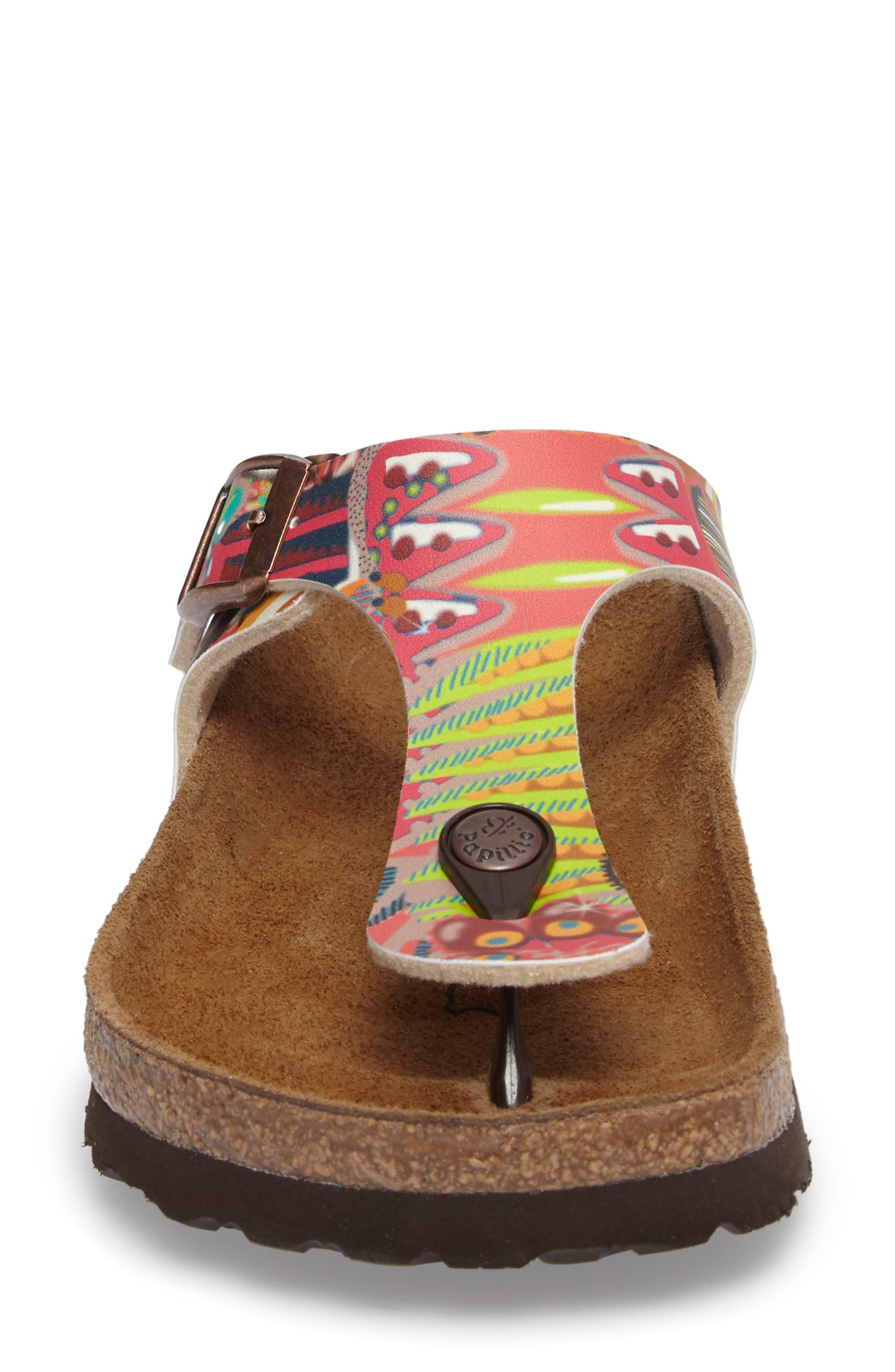 'Gizeh' Sandal,                             Alternate thumbnail 4, color,                             Raspberry Multi
