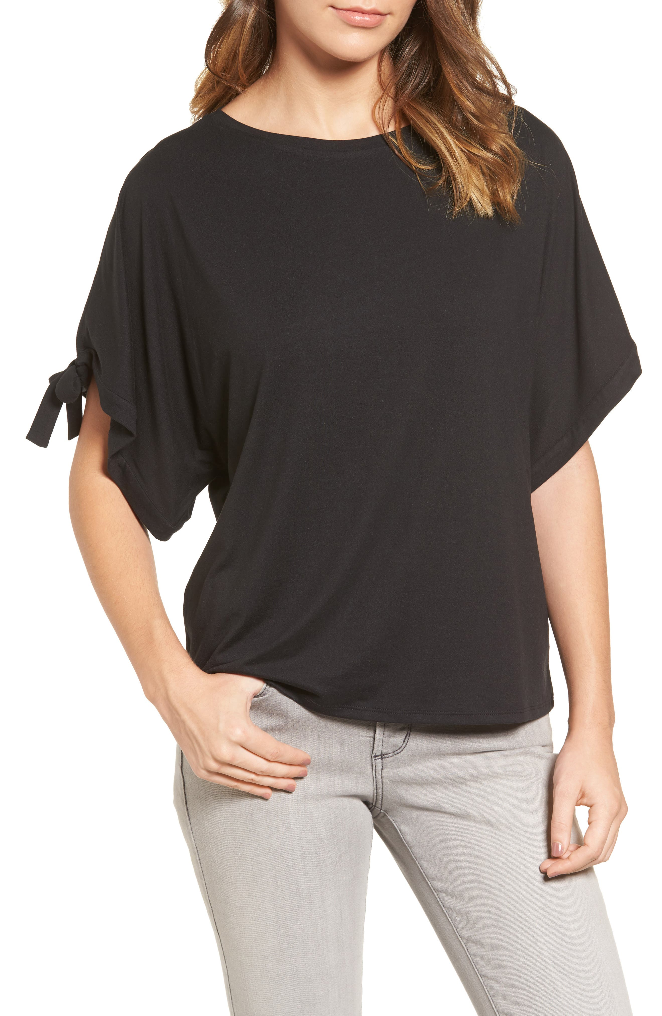 Halogen® Stretch Knit Top (Regular & Petite)