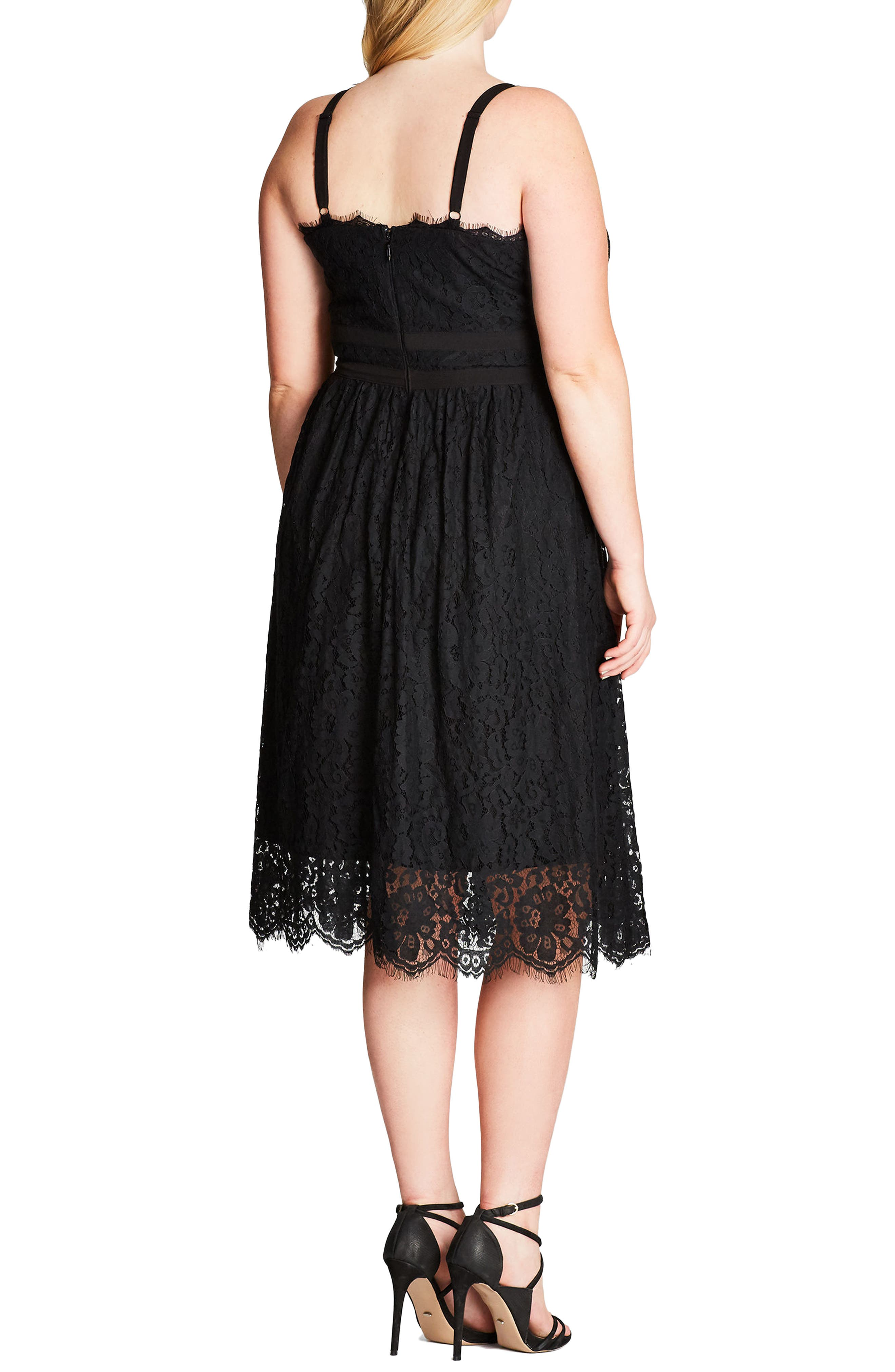 Alternate Image 2  - City Chic Lace Dress (Plus Size)
