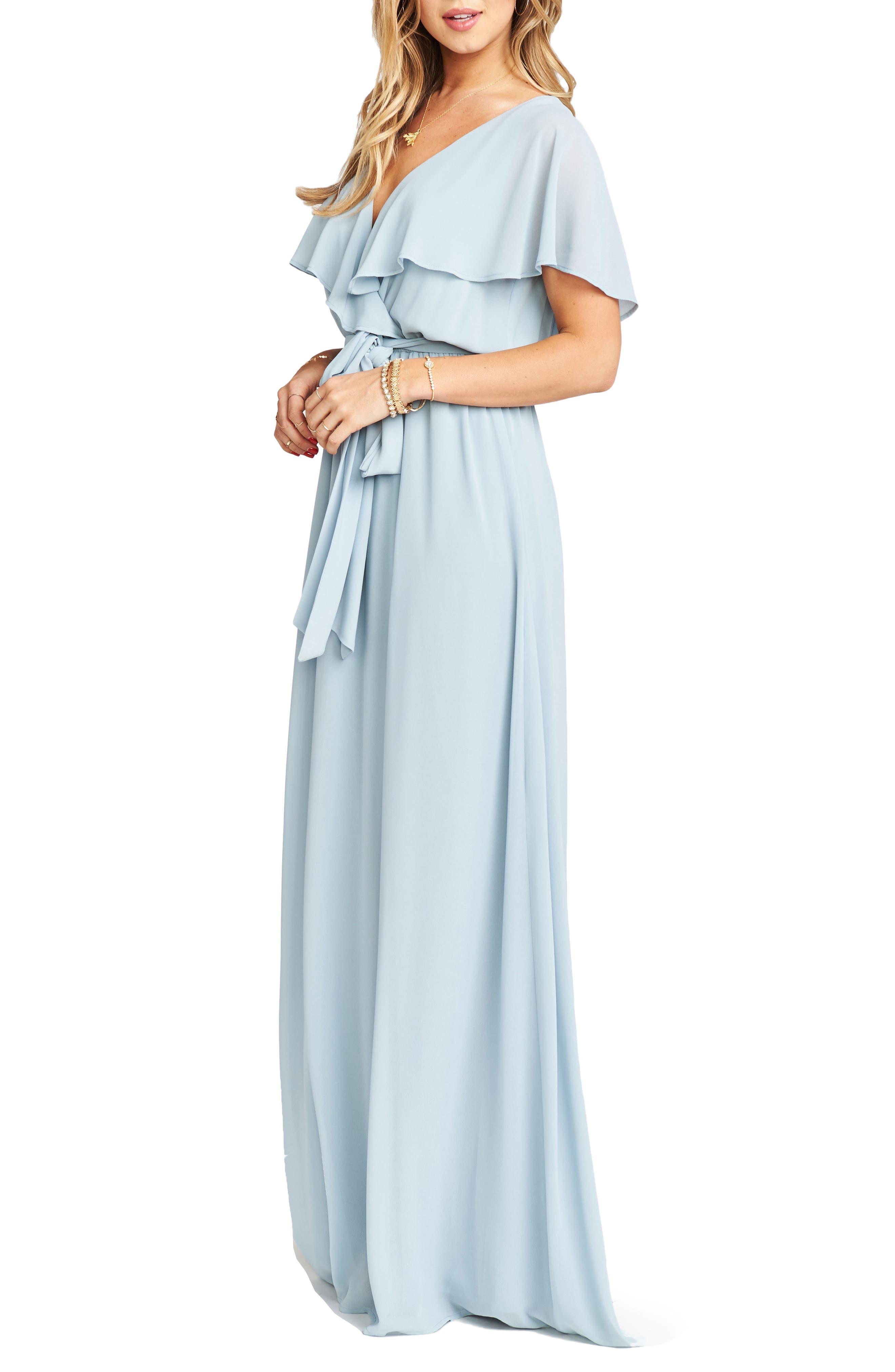 Alternate Image 3  - Show Me Your Mumu Audrey Ruffle Wrap Front Gown