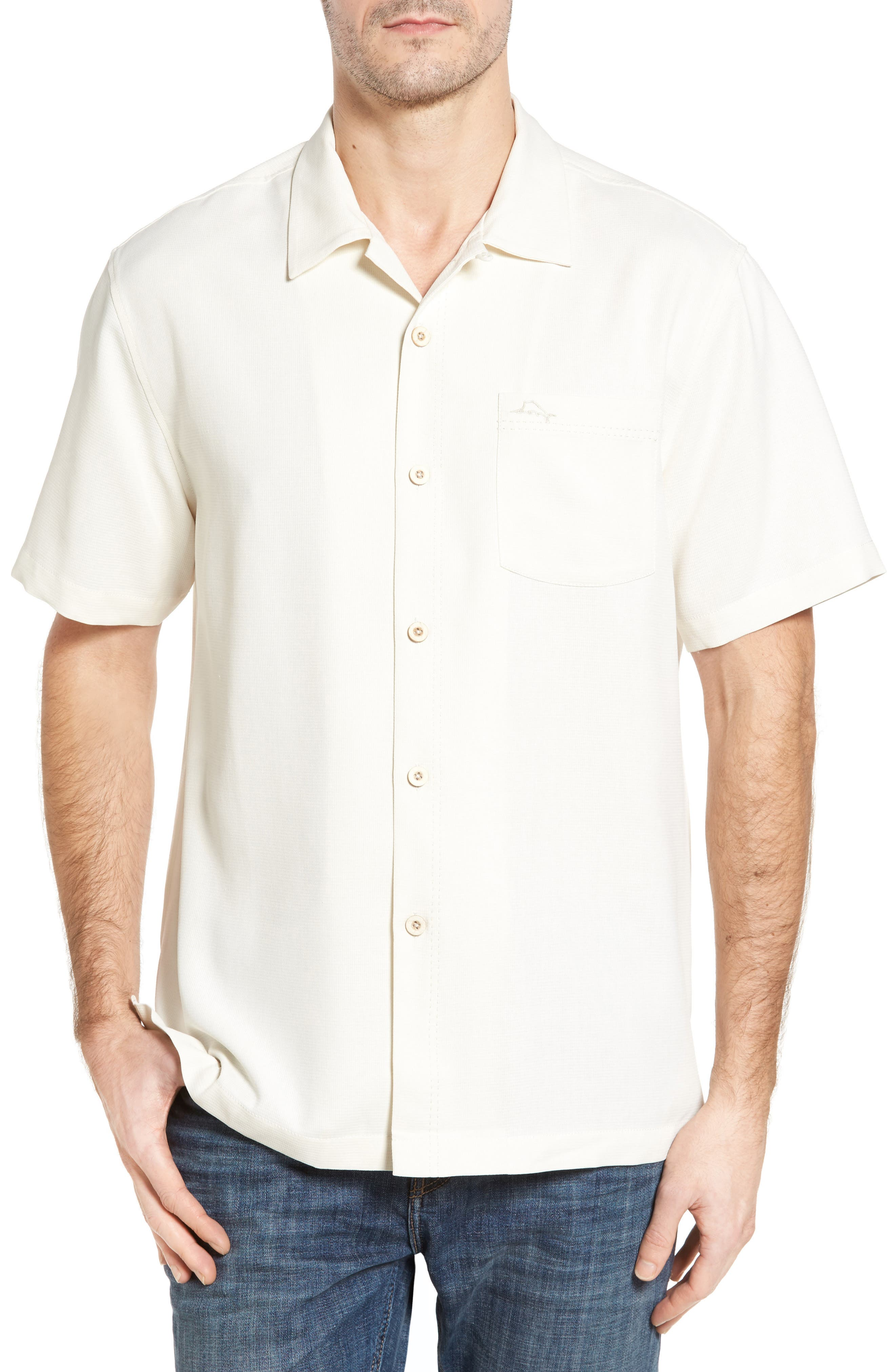 Alternate Image 1 Selected - Tommy Bahama Royal Bermuda Silk Blend Camp Shirt