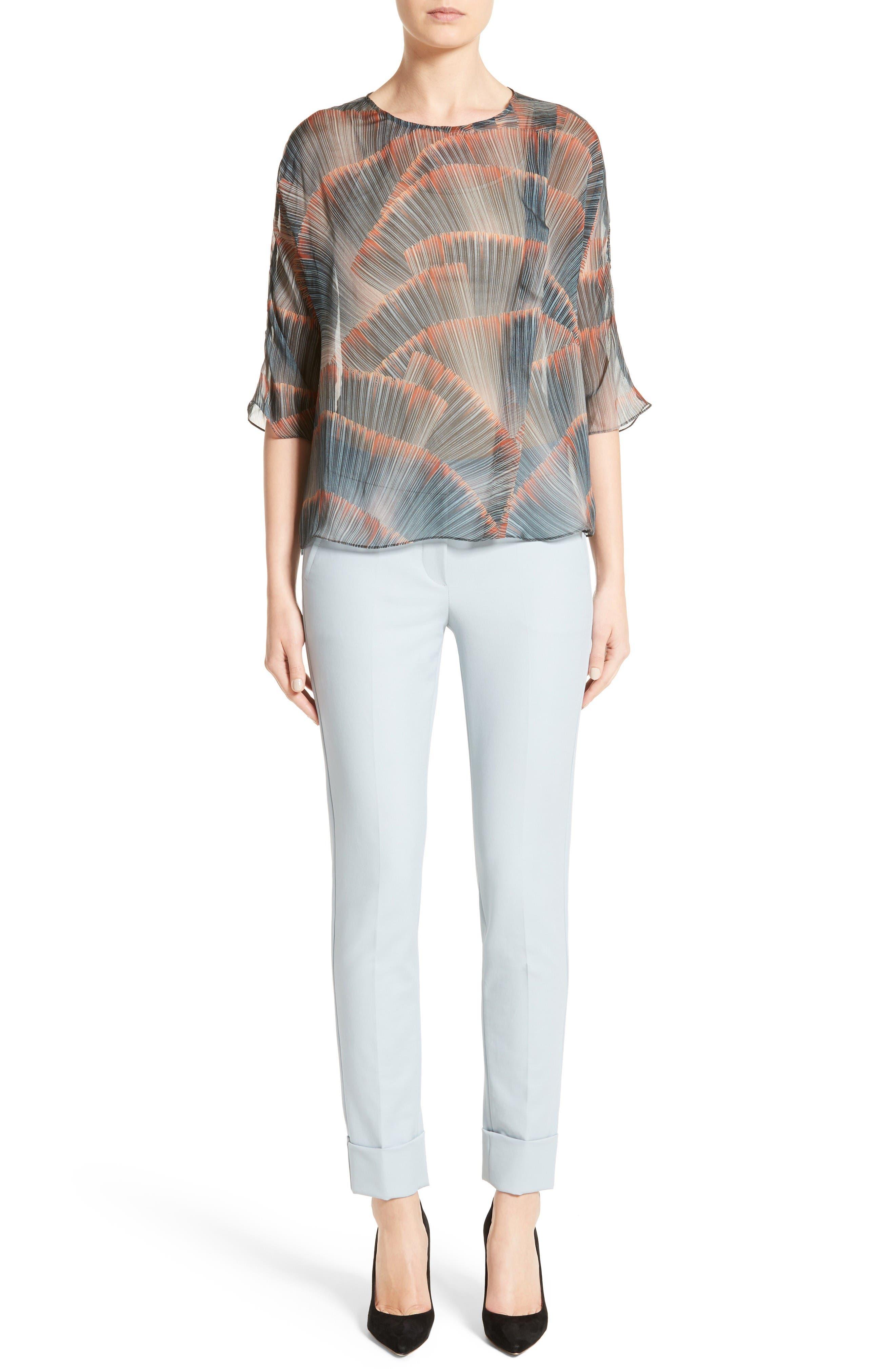 Armani Collezion Tech Cotton Cuff Pants,                             Alternate thumbnail 7, color,                             Cloud