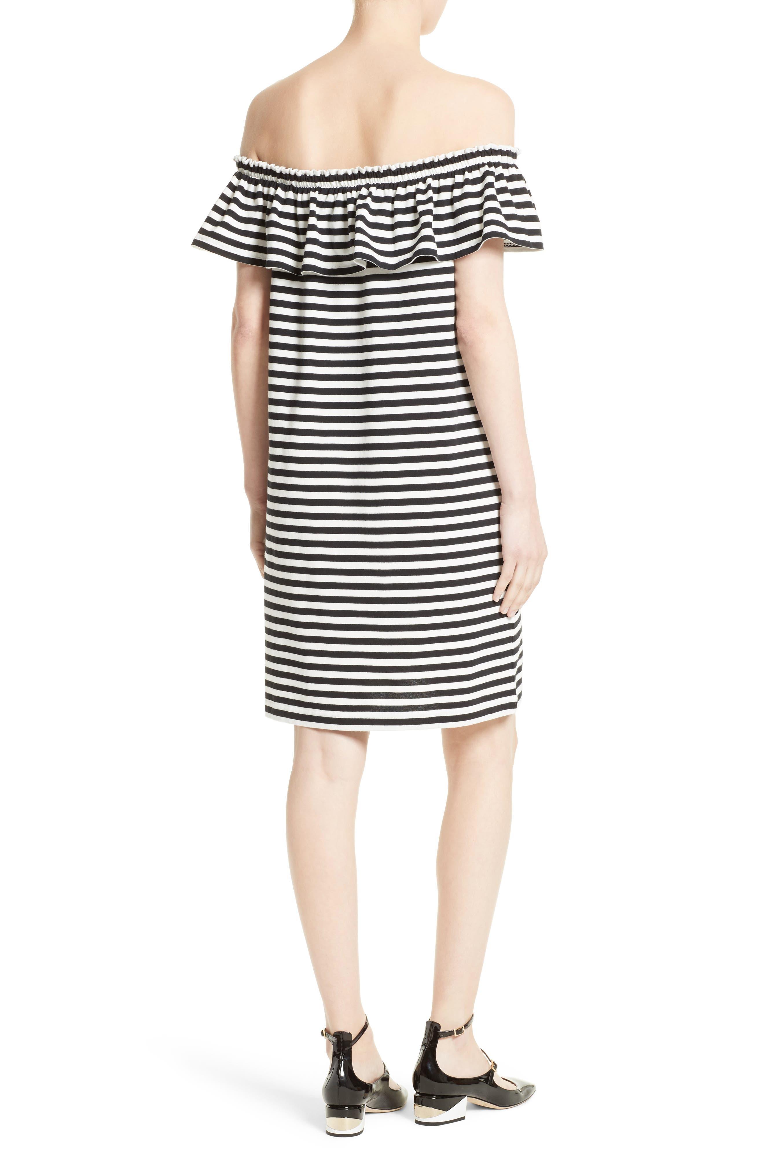 Alternate Image 2  - kate spade new york stripe knit off the shoulder dress