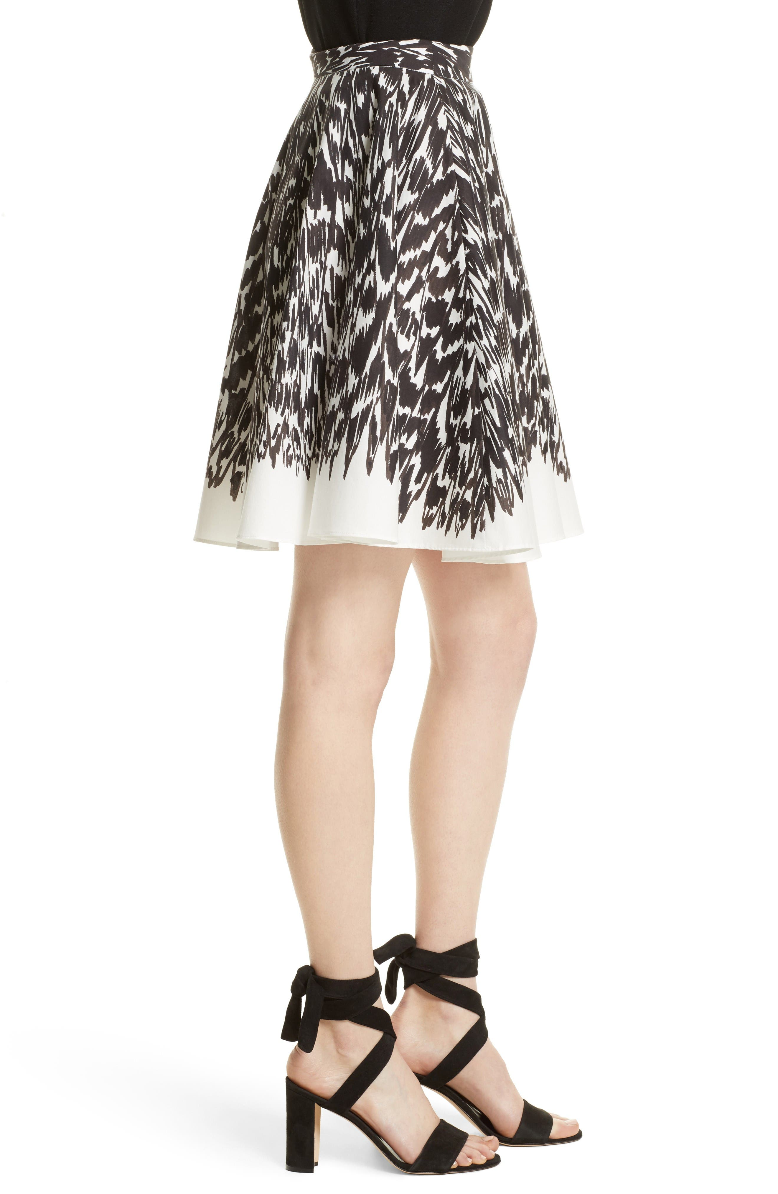 Circle Skirt,                             Alternate thumbnail 4, color,                             Black