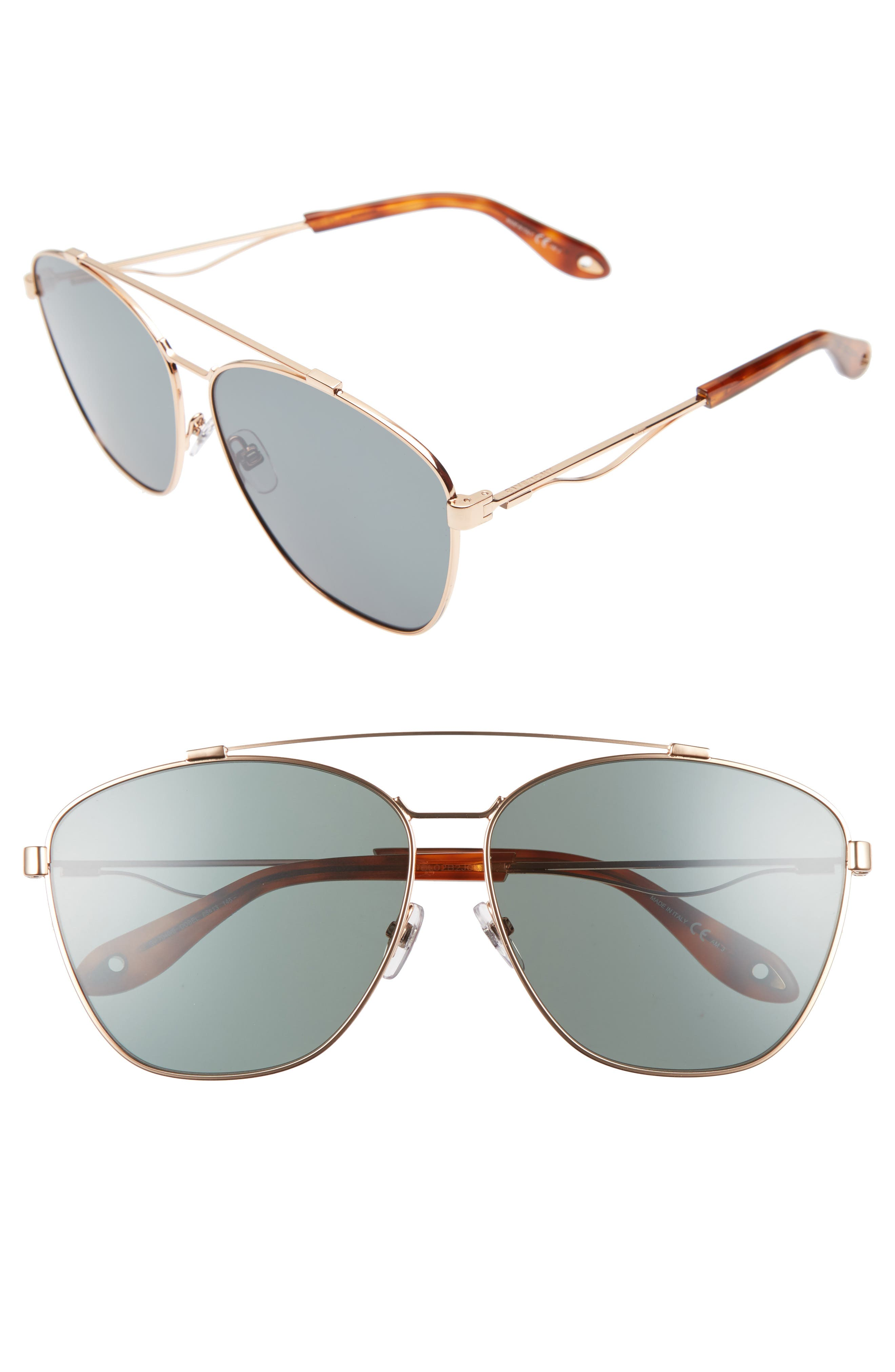 Alternate Image 1 Selected - Givenchy 65mm Round Aviator Sunglasses