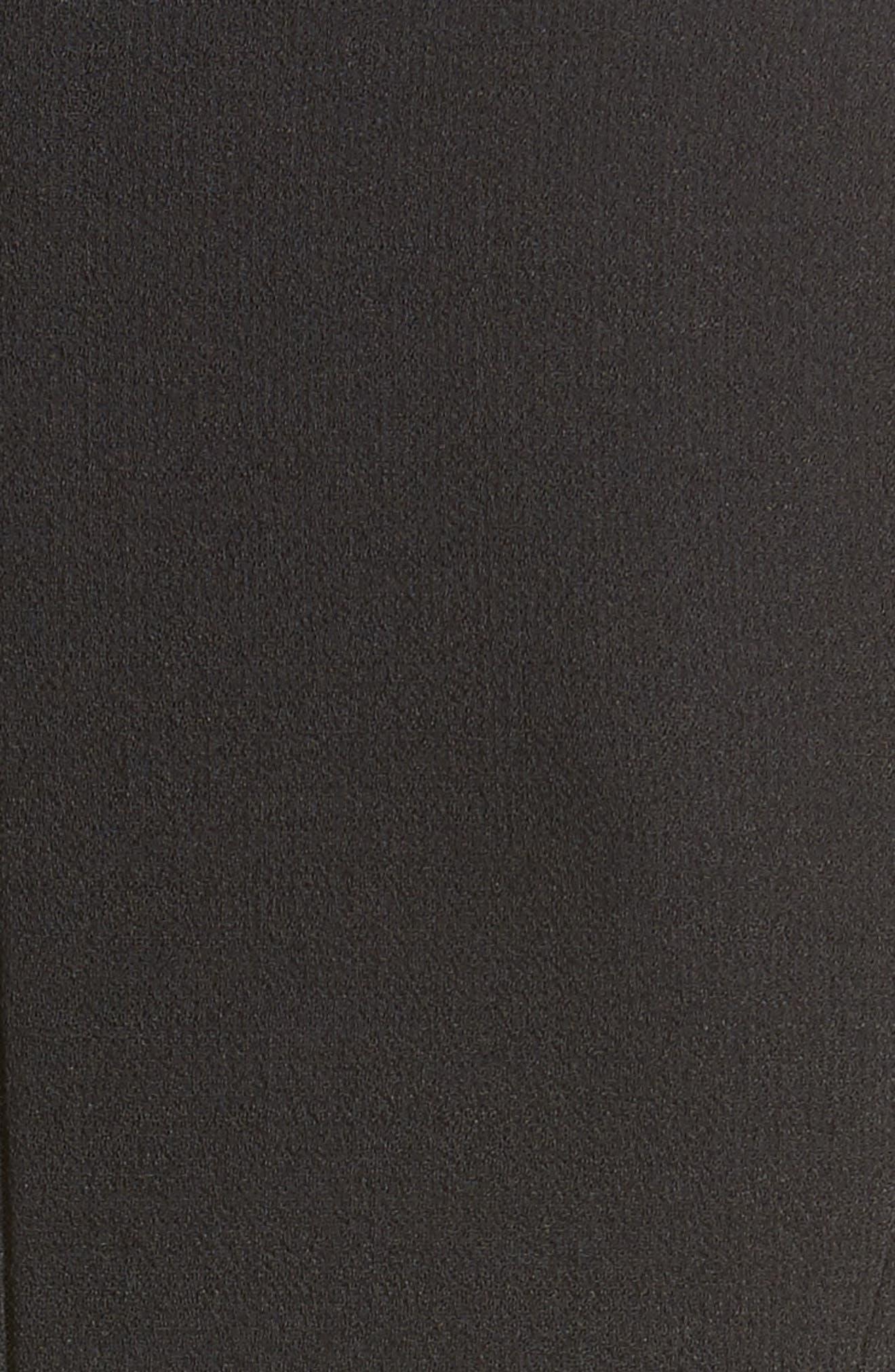 Belted Stretch Bouclé Crepe Sheath Dress,                             Alternate thumbnail 3, color,                             Black