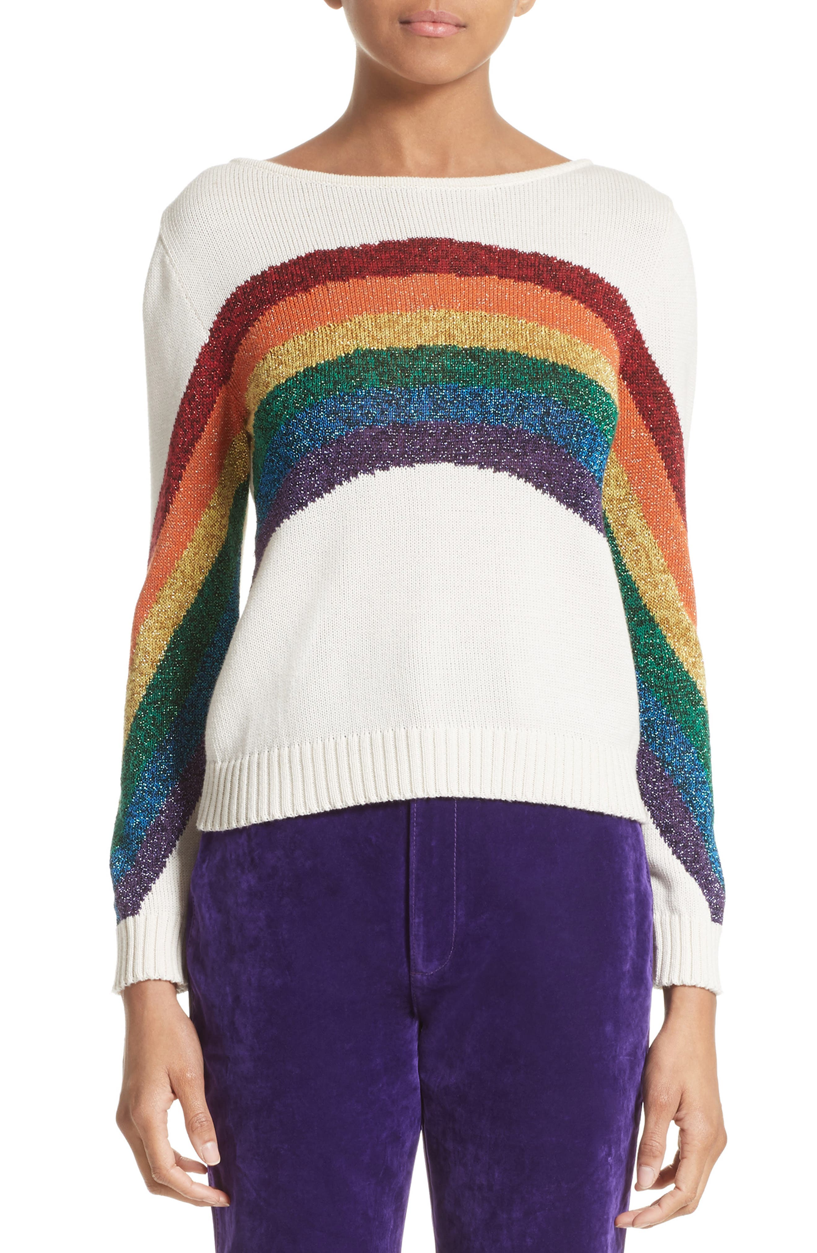 Alternate Image 1 Selected - MARC JACOBS Rainbow Cotton Blend Sweater