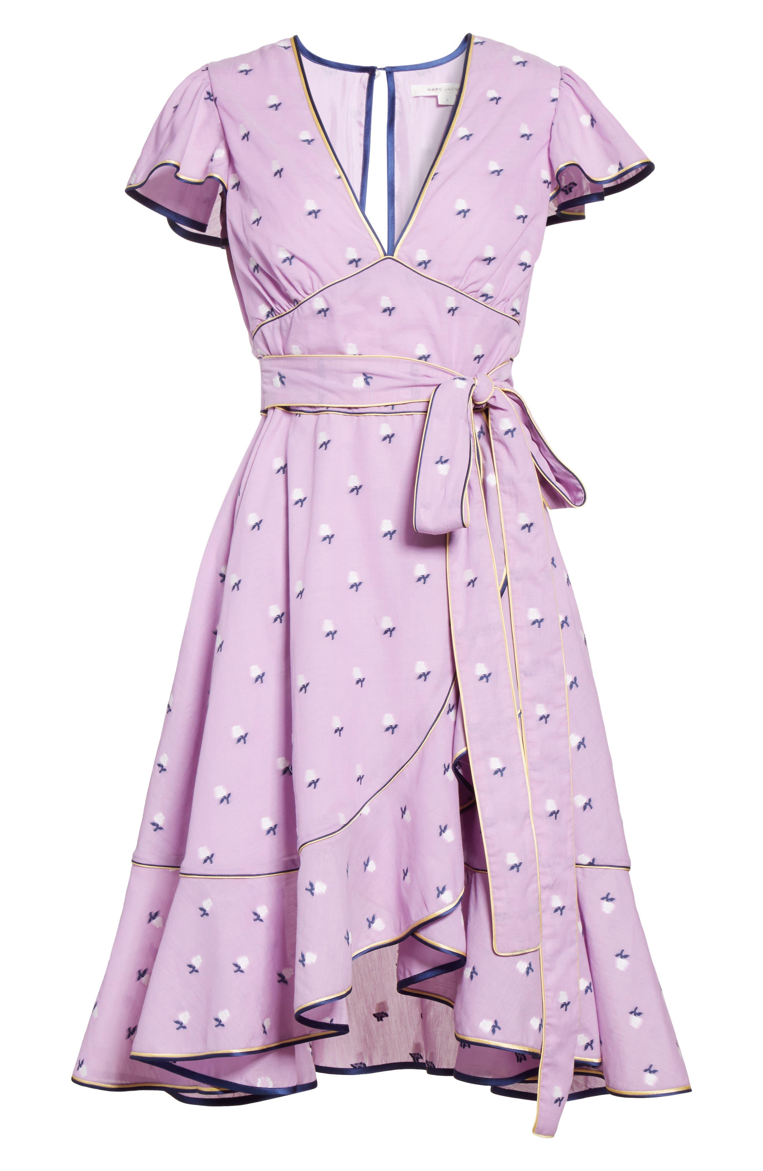 Alternate Image 5  - MARC JACOBS Ruffle Reverse Fil Coupé Dress