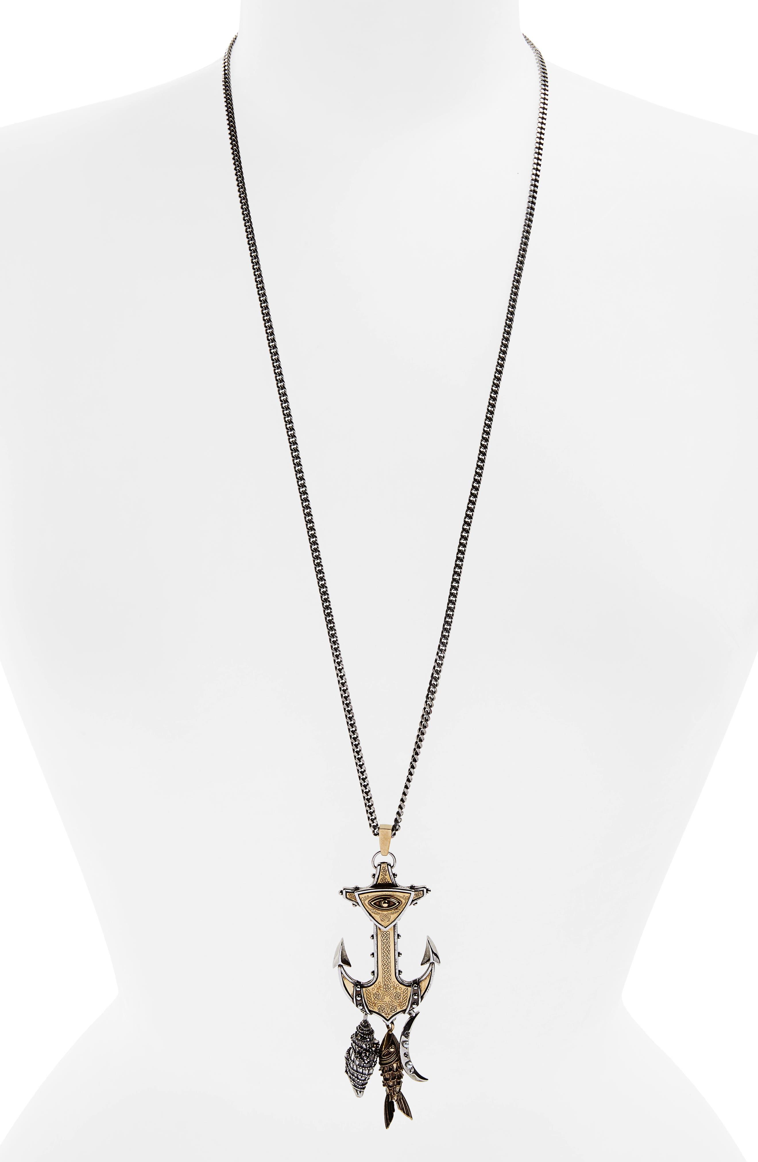 Alternate Image 1 Selected - Alexander McQueen Anchor Pendant Necklace