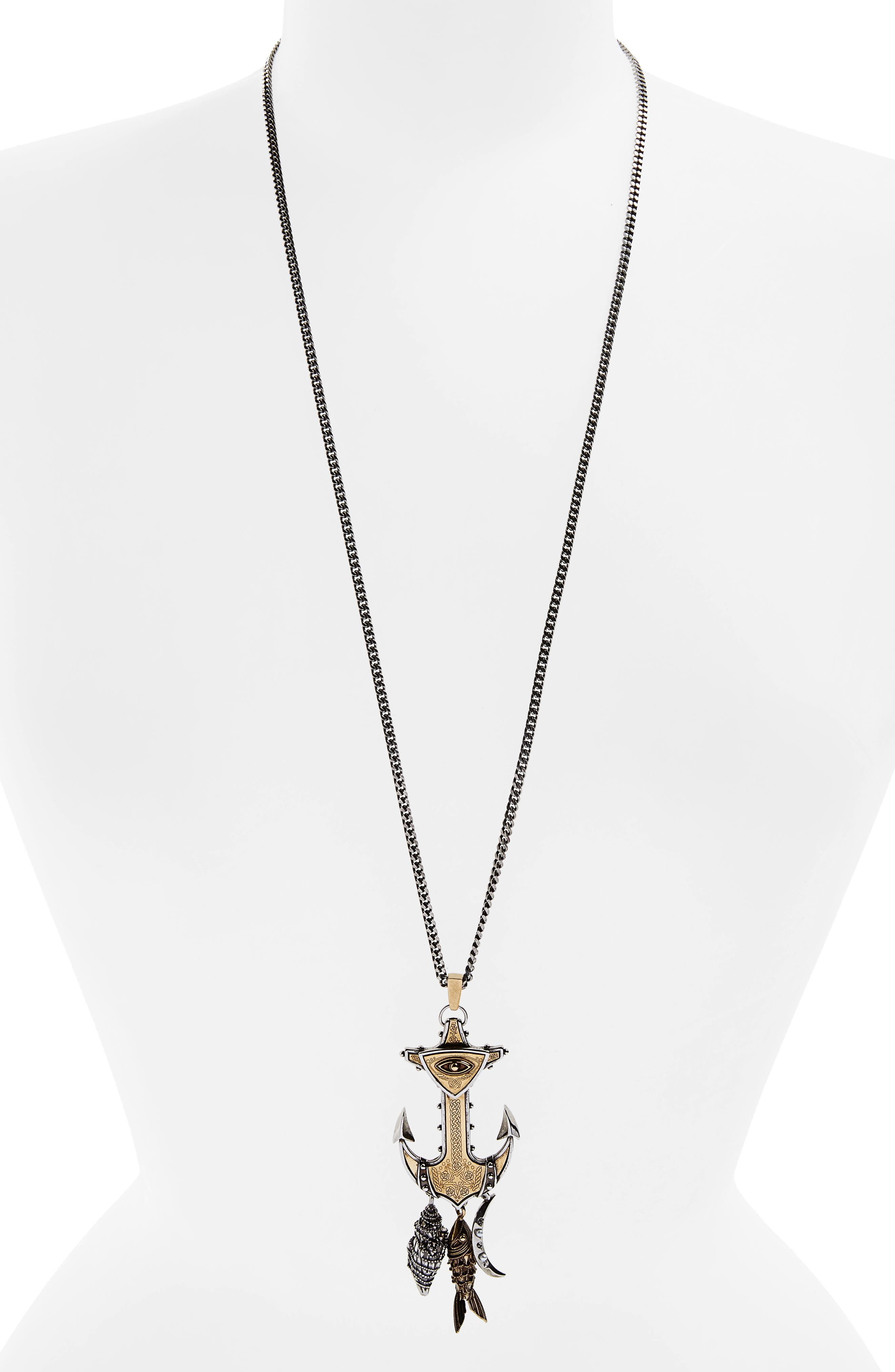 Alexander McQueen Anchor Pendant Necklace