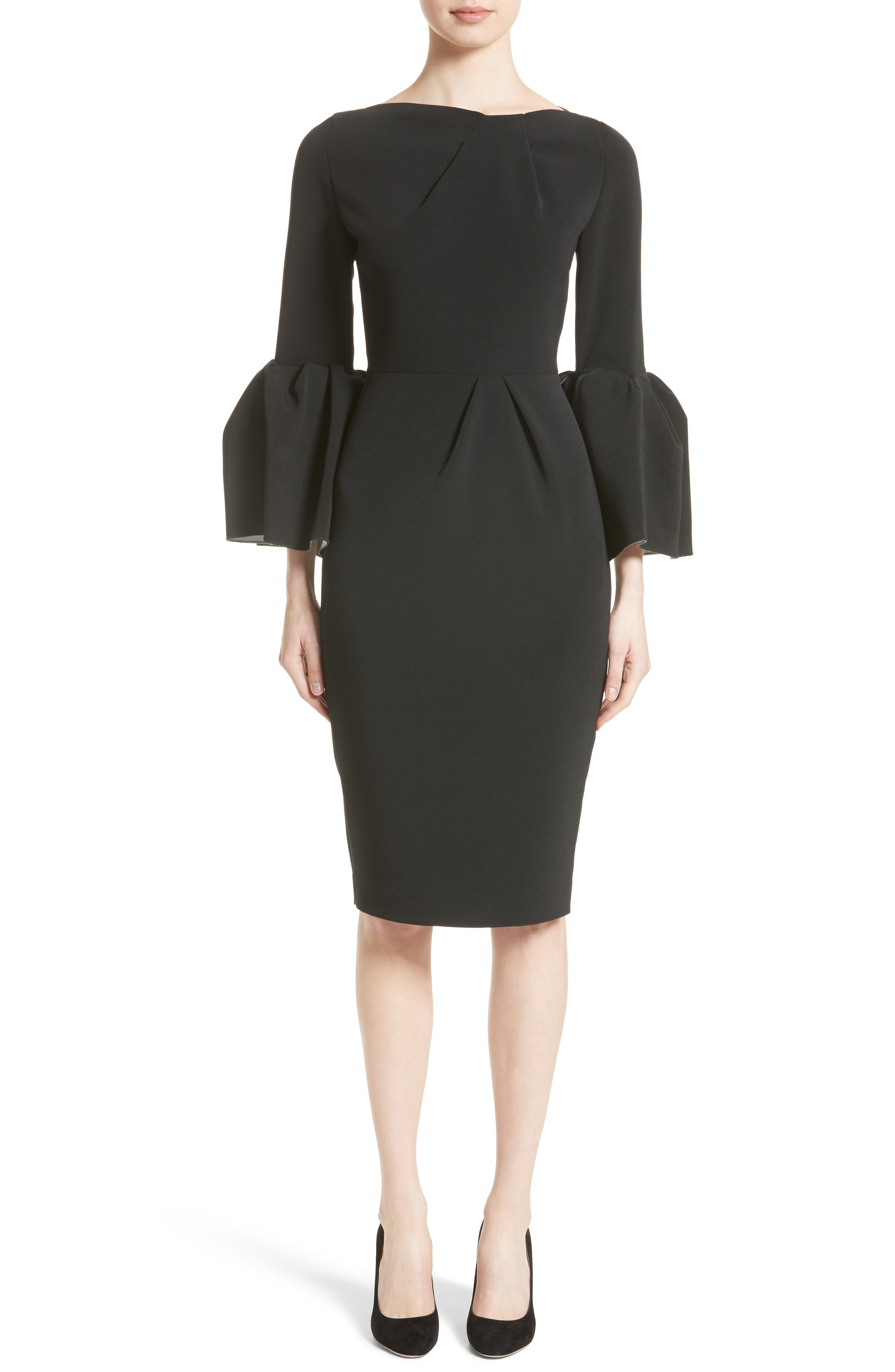 Margot Dress,                             Main thumbnail 1, color,                             Black/Ivory