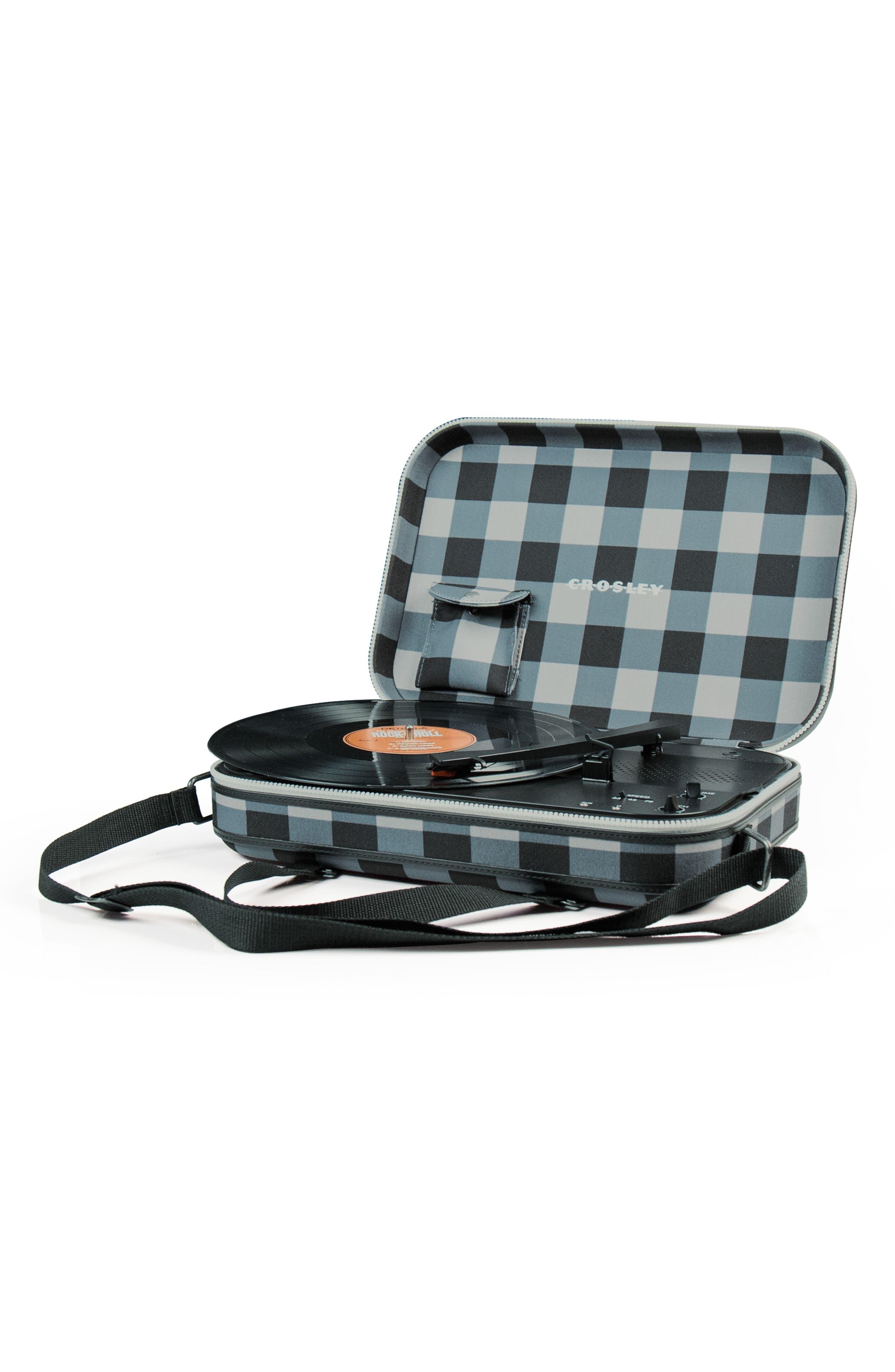 Messenger Turntable,                             Alternate thumbnail 2, color,                             Grey Checkboard