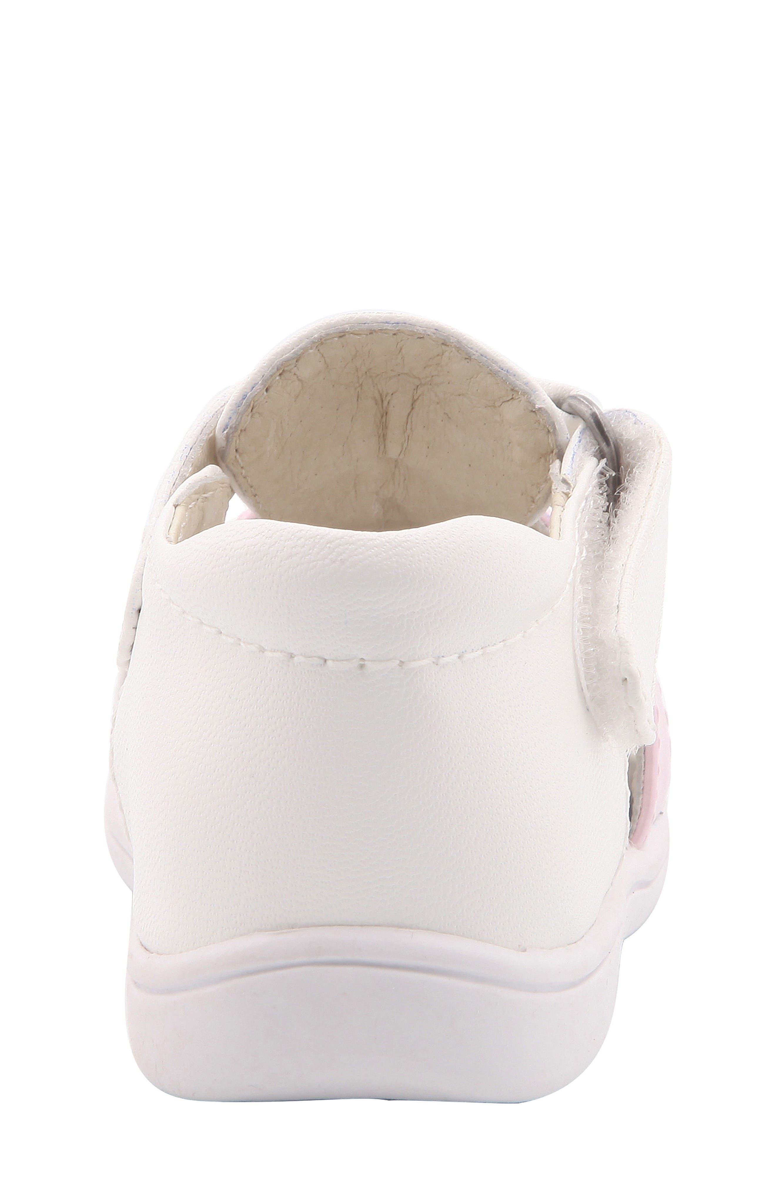 Gage Fisherman Sandal,                             Alternate thumbnail 8, color,                             White Faux Leather