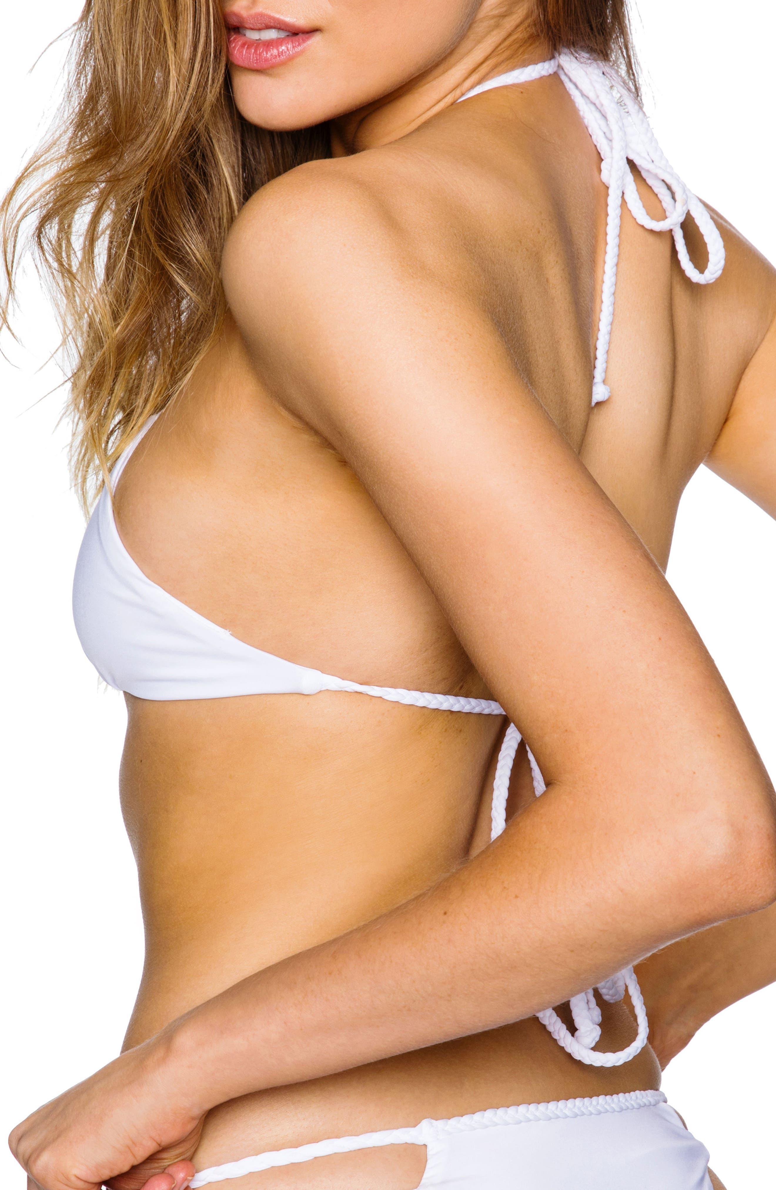 Mimi Bikini Top,                             Alternate thumbnail 2, color,                             White