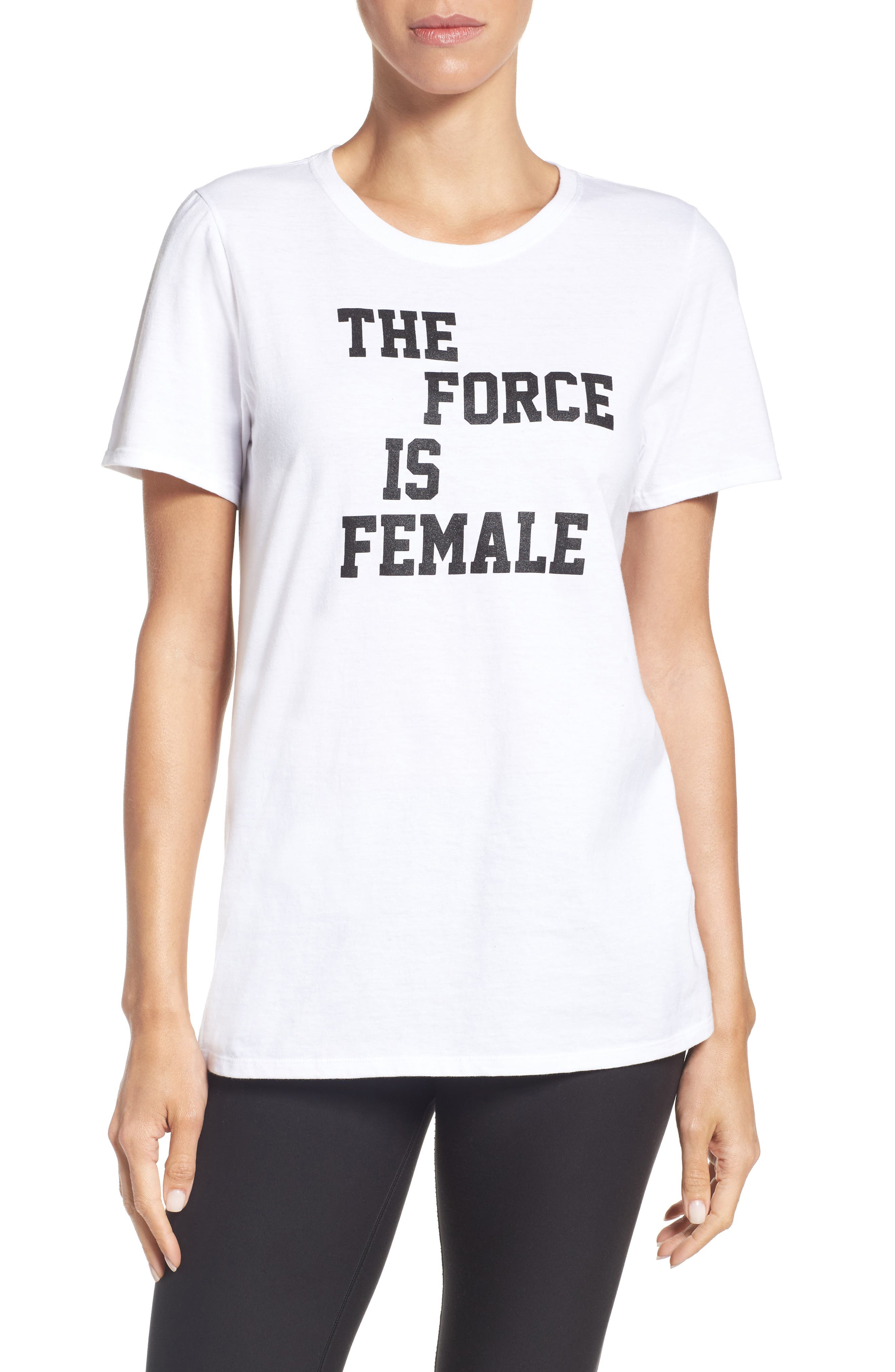 Alternate Image 1 Selected - Nike The Force Is Female Tee