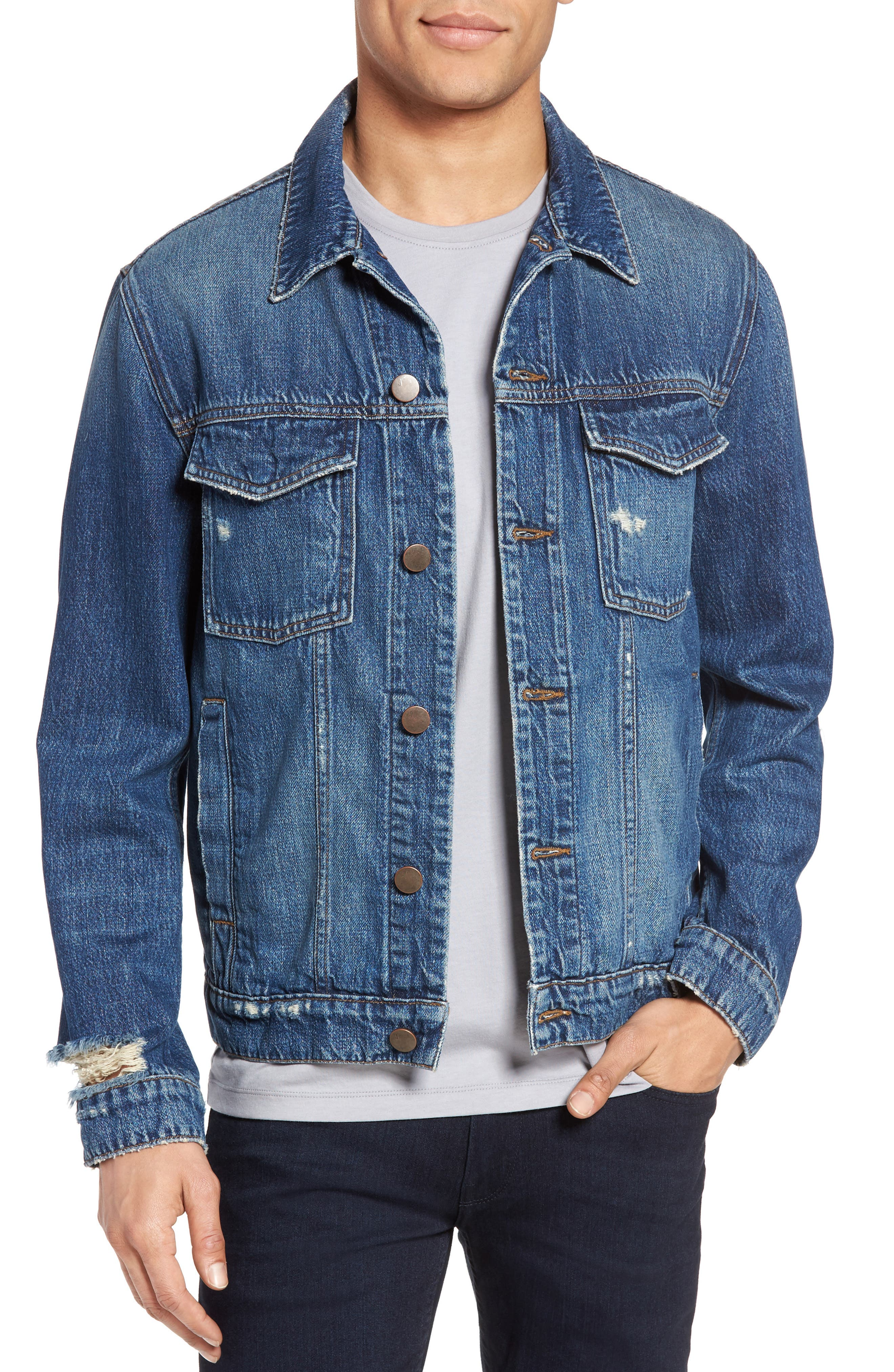 Gorn Denim Jacket,                         Main,                         color, Terebellum