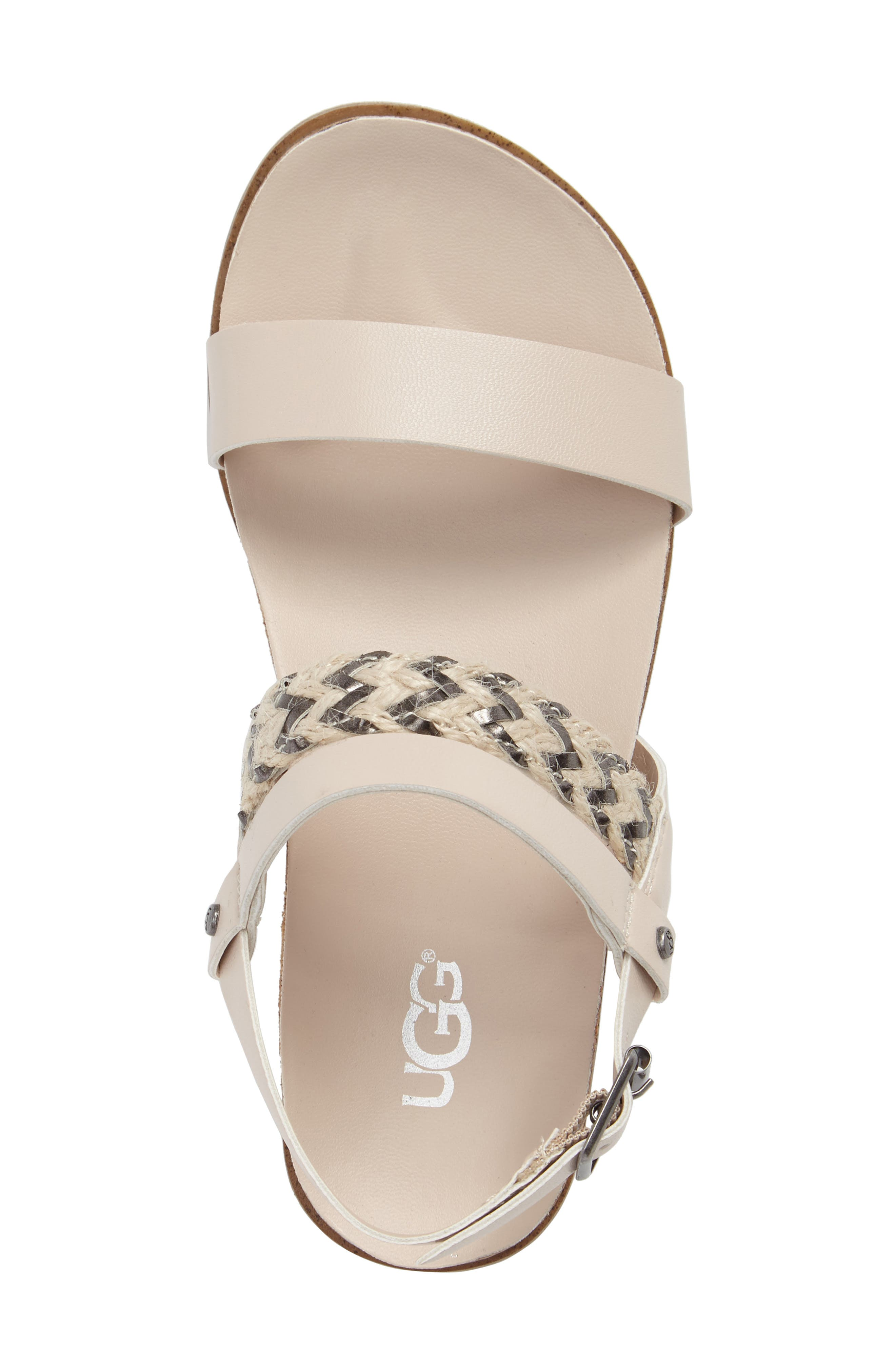 Alternate Image 5  - UGG® Jayna Sandal (Little Kid & Big Kid)
