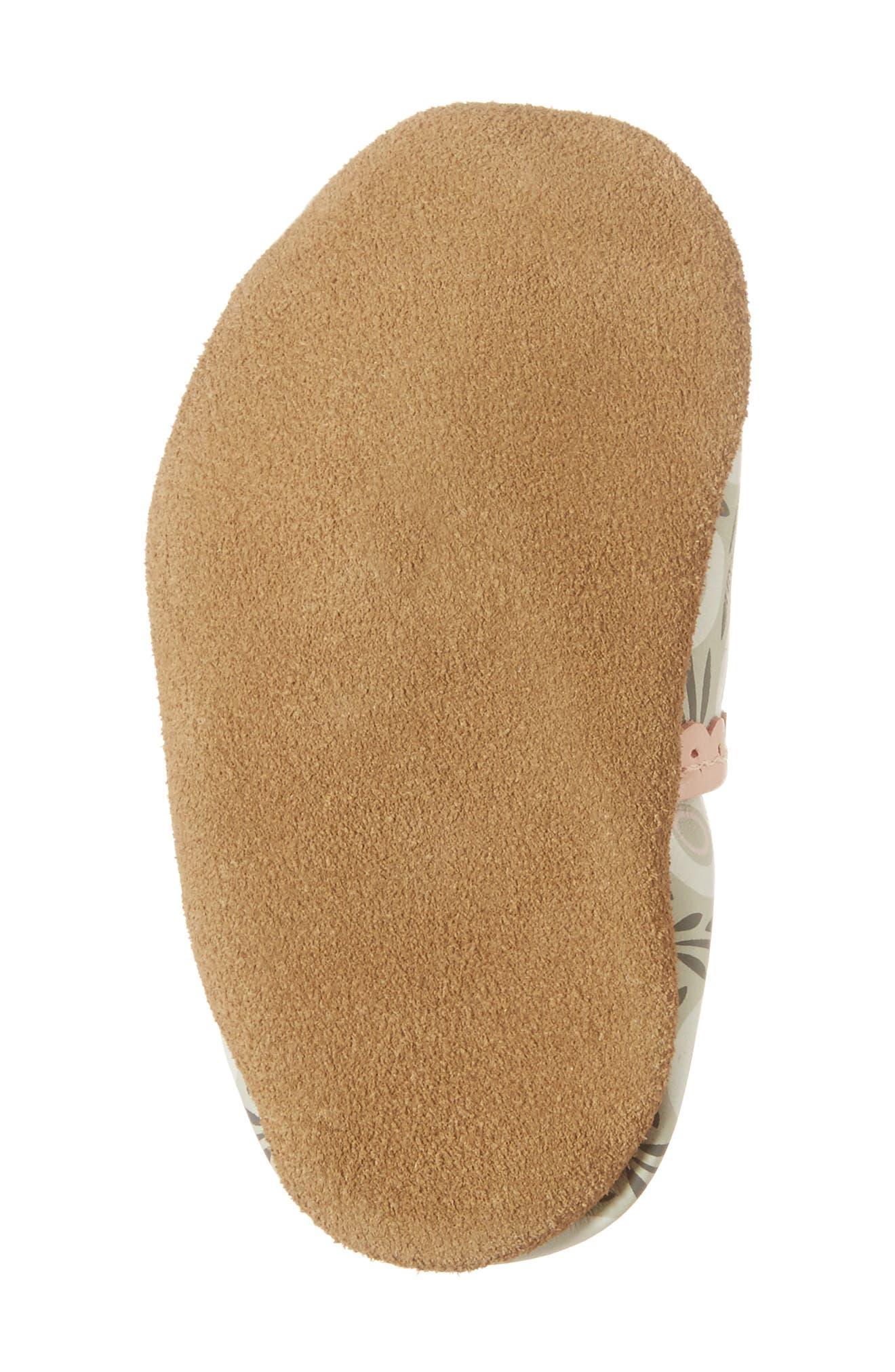 Alternate Image 6  - Robeez® Wildflowers Crib Shoe (Baby & Walker)