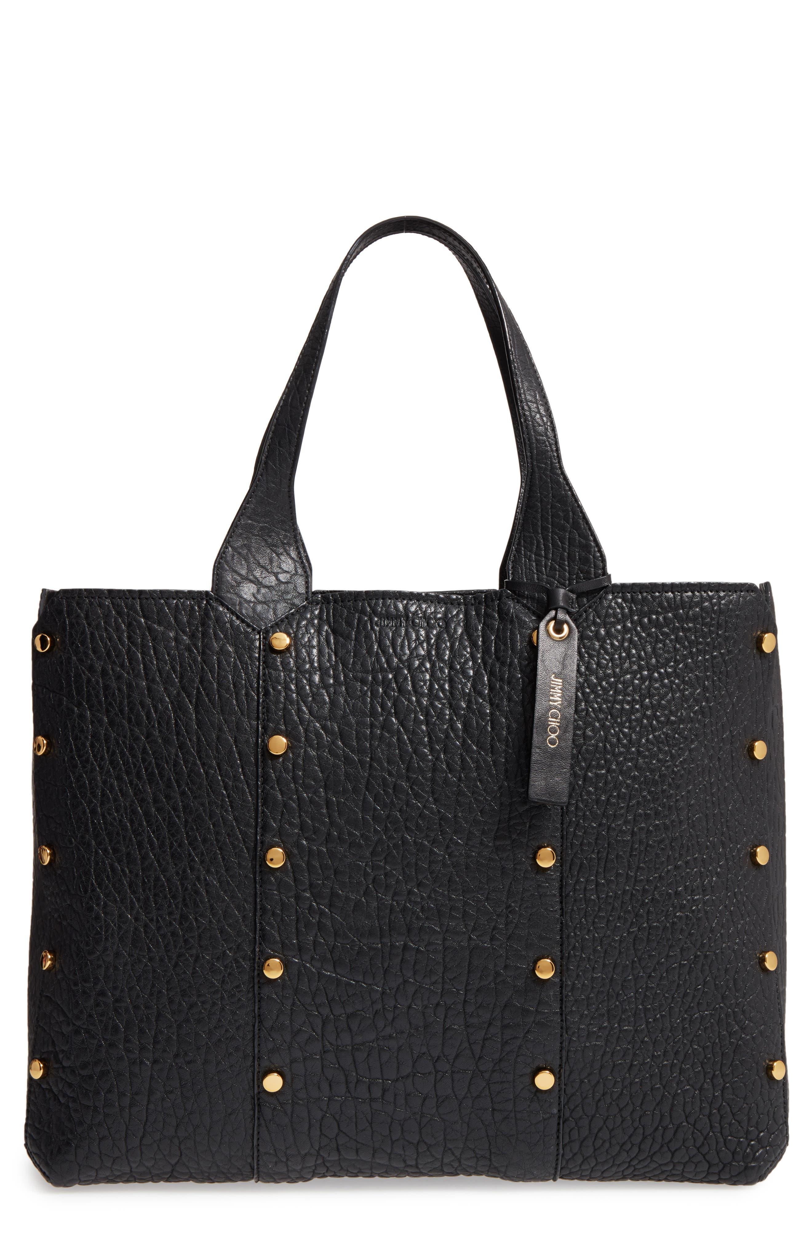Alternate Image 1 Selected - Jimmy Choo Lockett Leather Shopper