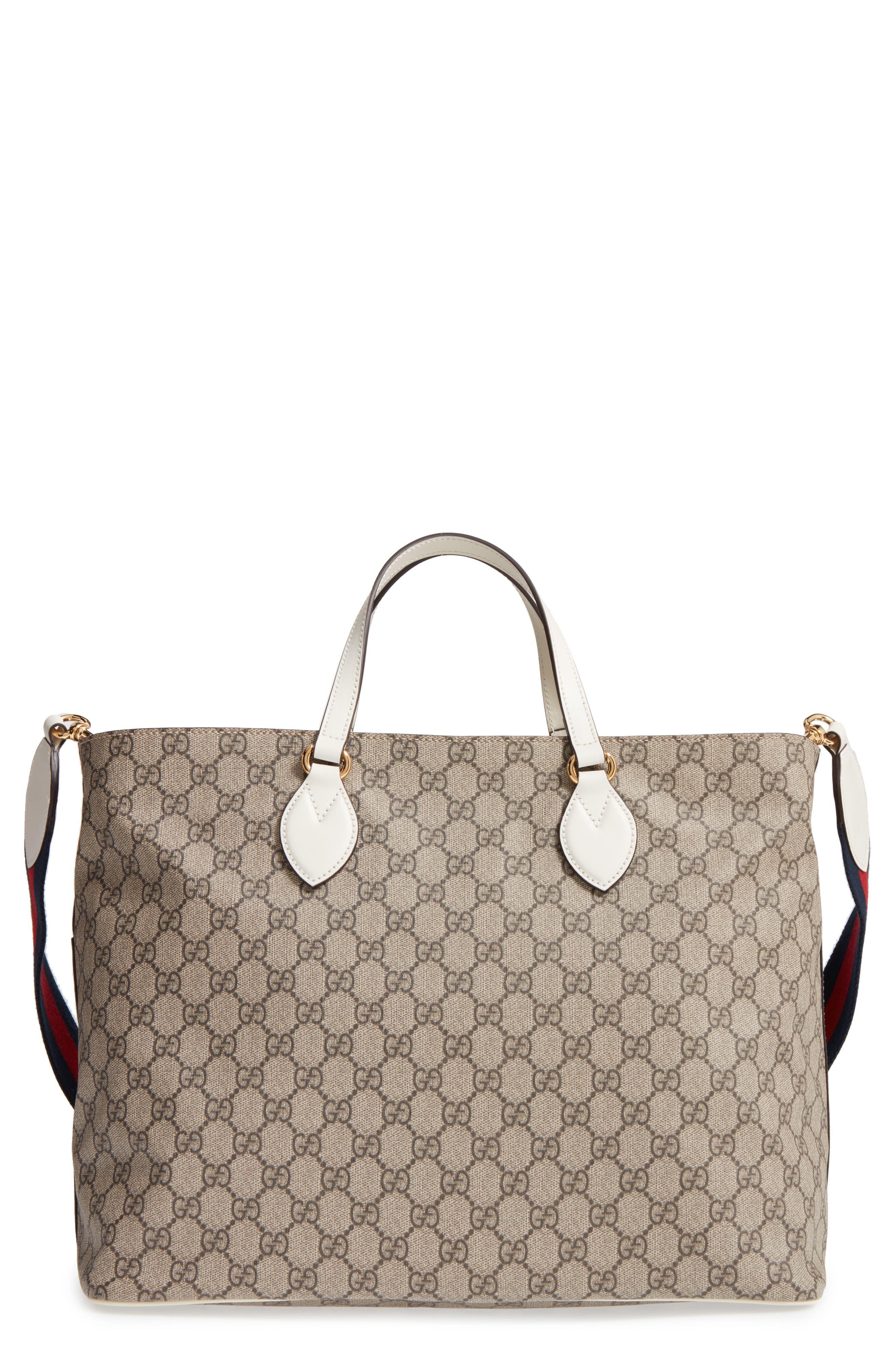 Alternate Image 1 Selected - Gucci Logo Print Diaper Bag