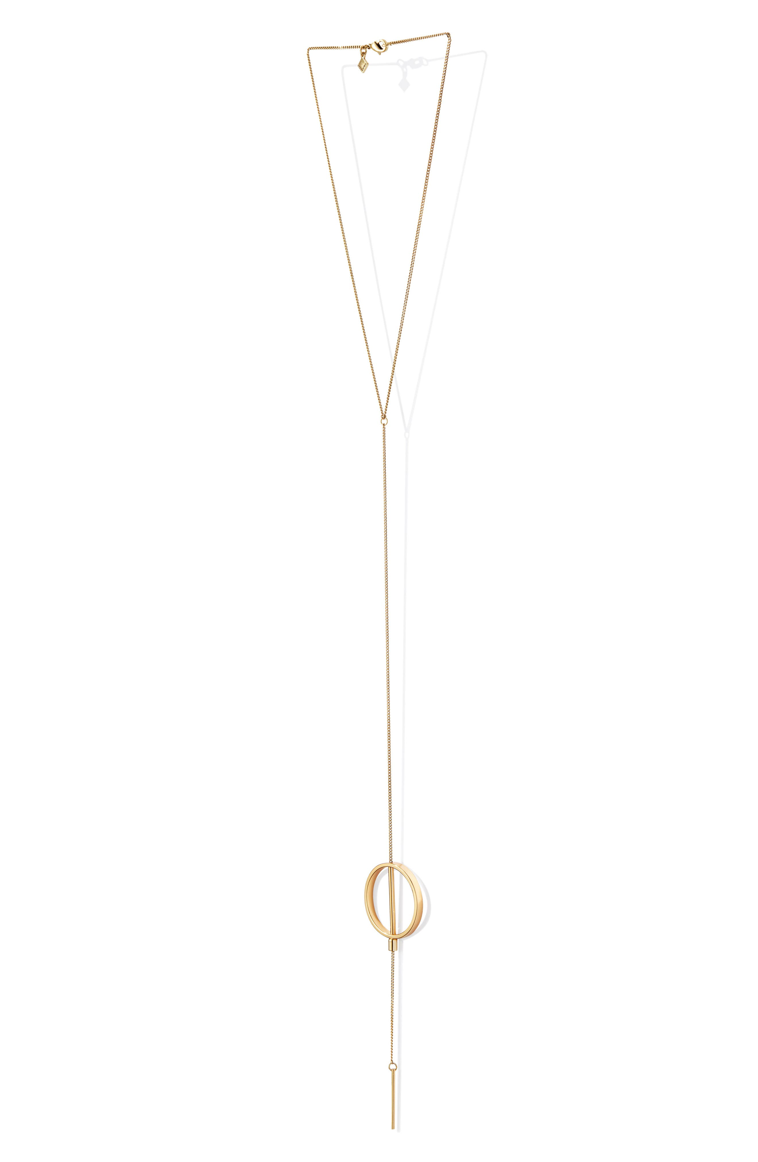 Rhine Lariat Necklace,                             Alternate thumbnail 4, color,                             Gold